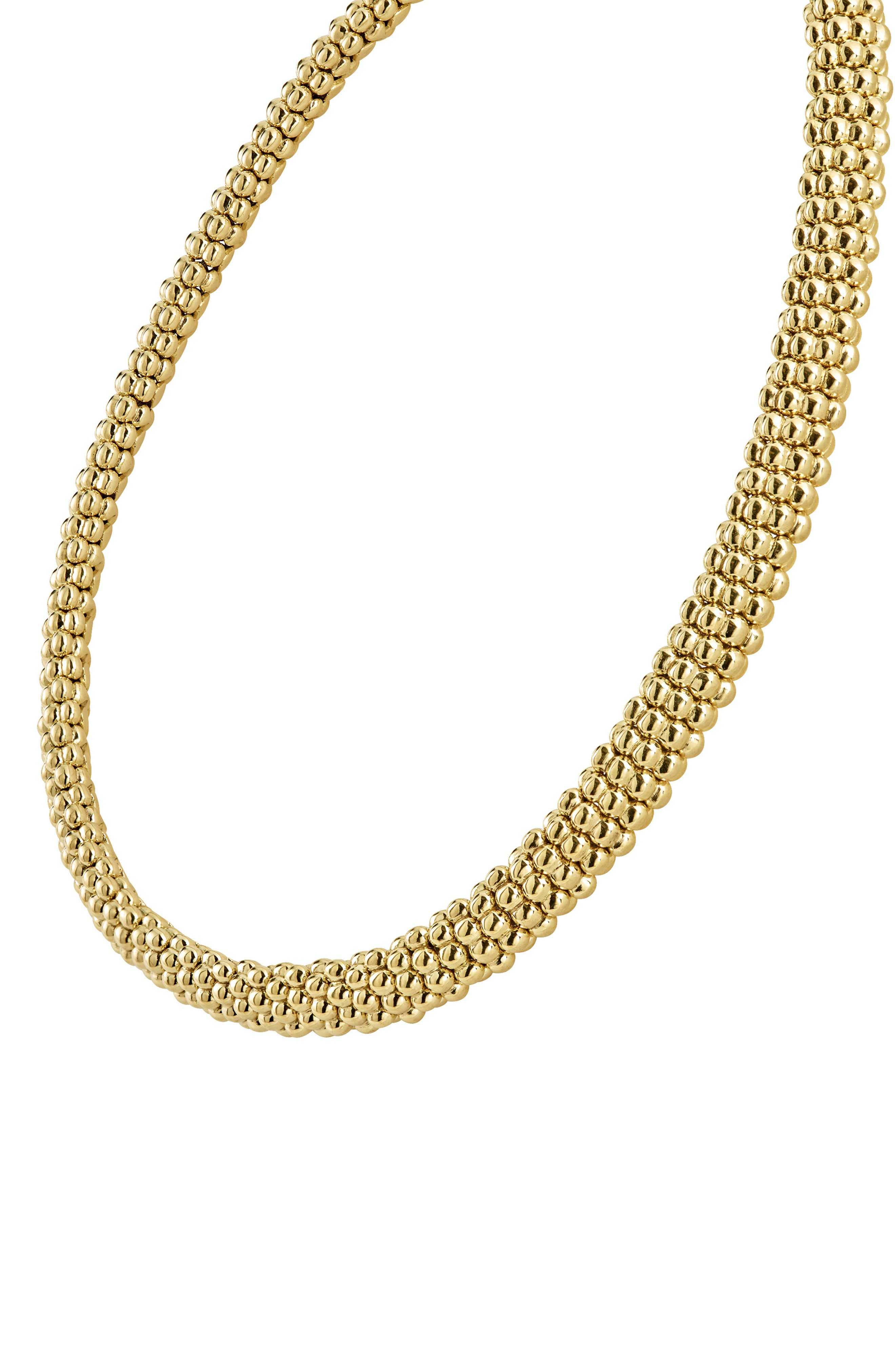 Caviar Gold Rope Necklace,                             Alternate thumbnail 6, color,                             GOLD