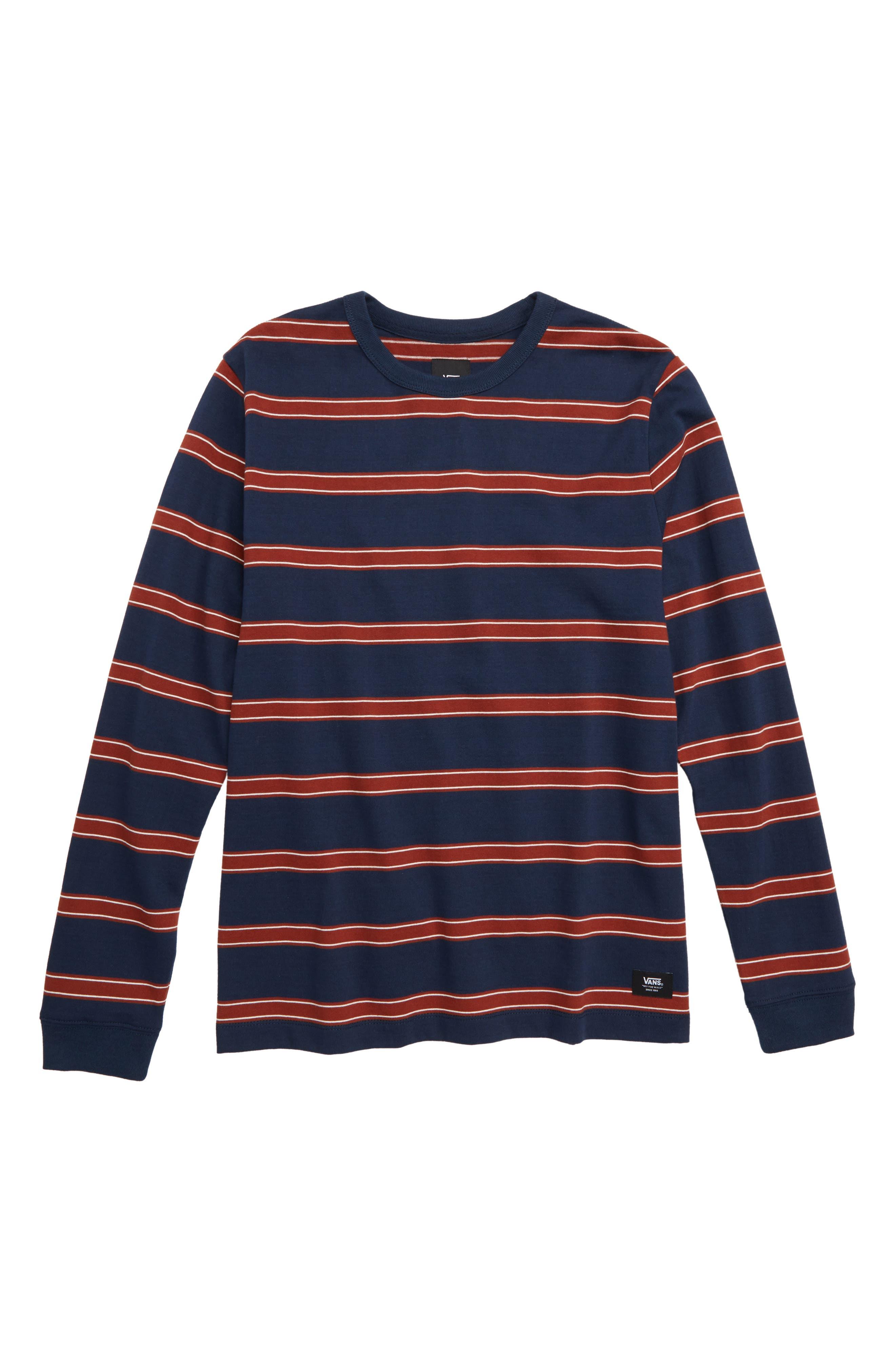 Watson Stripe Shirt,                         Main,                         color, DRESS BLUES