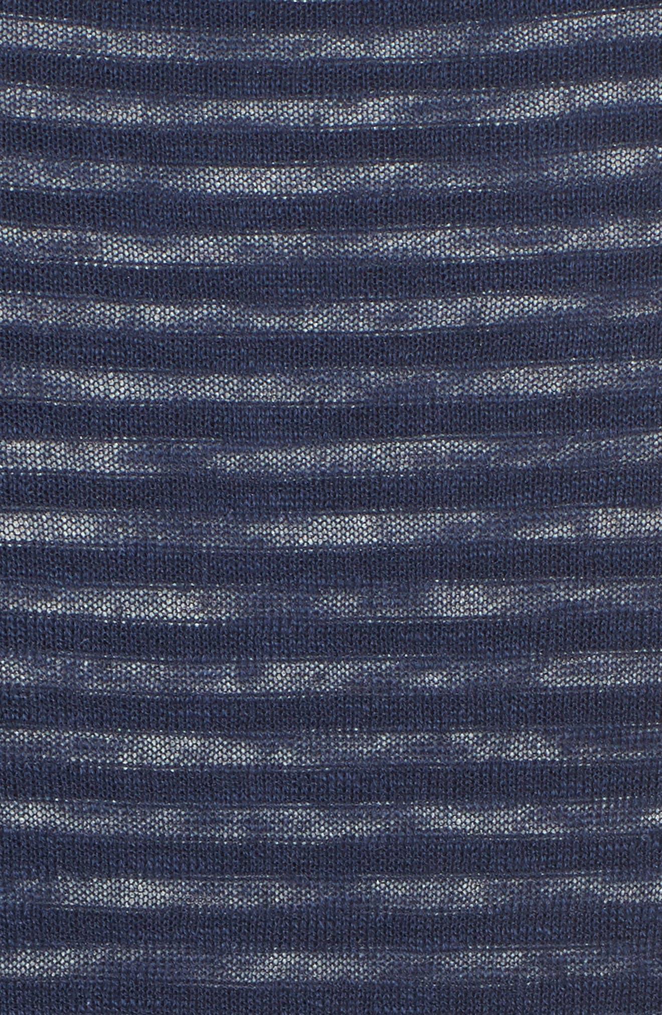 Luca Reversible Cotton & Linen Pullover,                             Alternate thumbnail 5, color,                             454