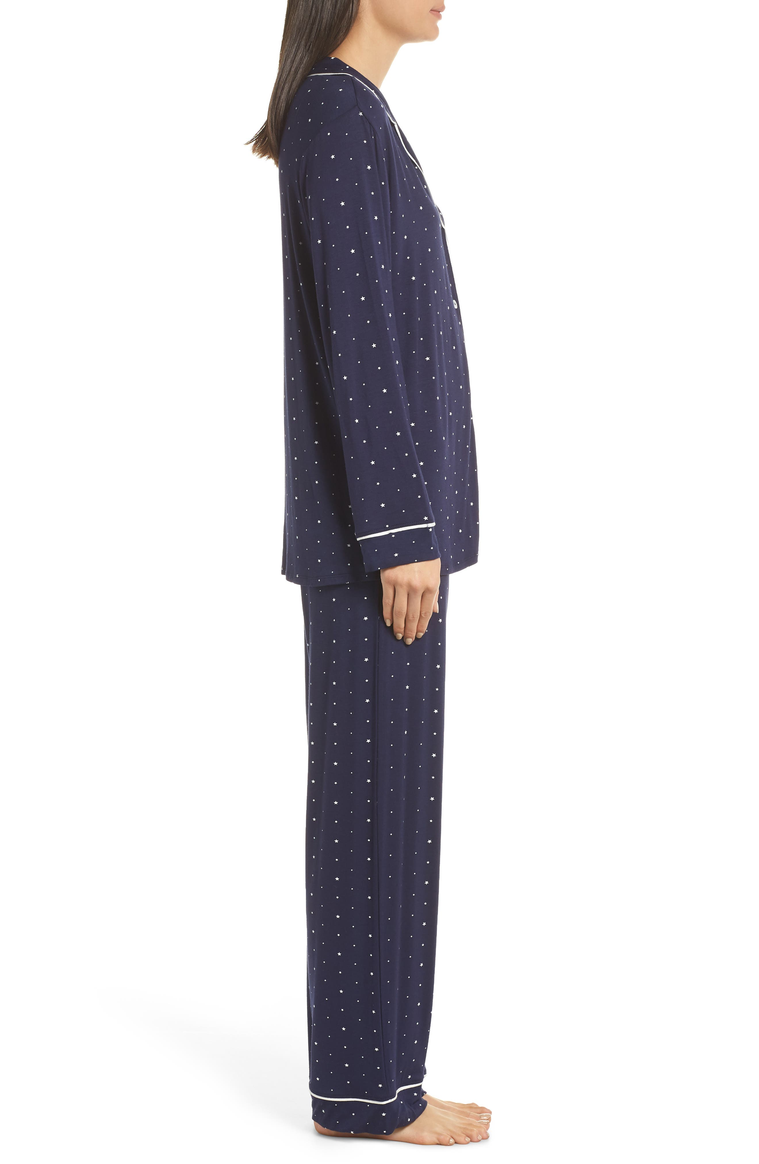 Sleep Chic Pajamas,                             Alternate thumbnail 3, color,                             NORTHER STARS/ IVORY