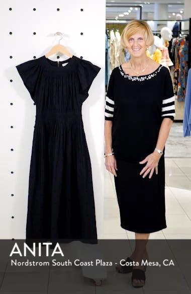 Lottie Embroidered Midi Dress, sales video thumbnail