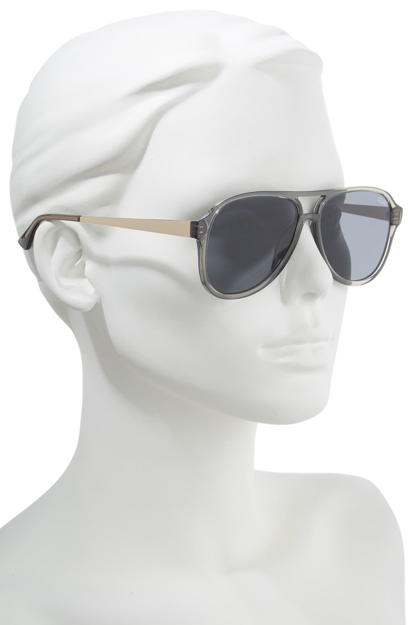 Under Pressure 58mm Aviator Sunglasses,                             Alternate thumbnail 2, color,                             GREY/ SMOKE