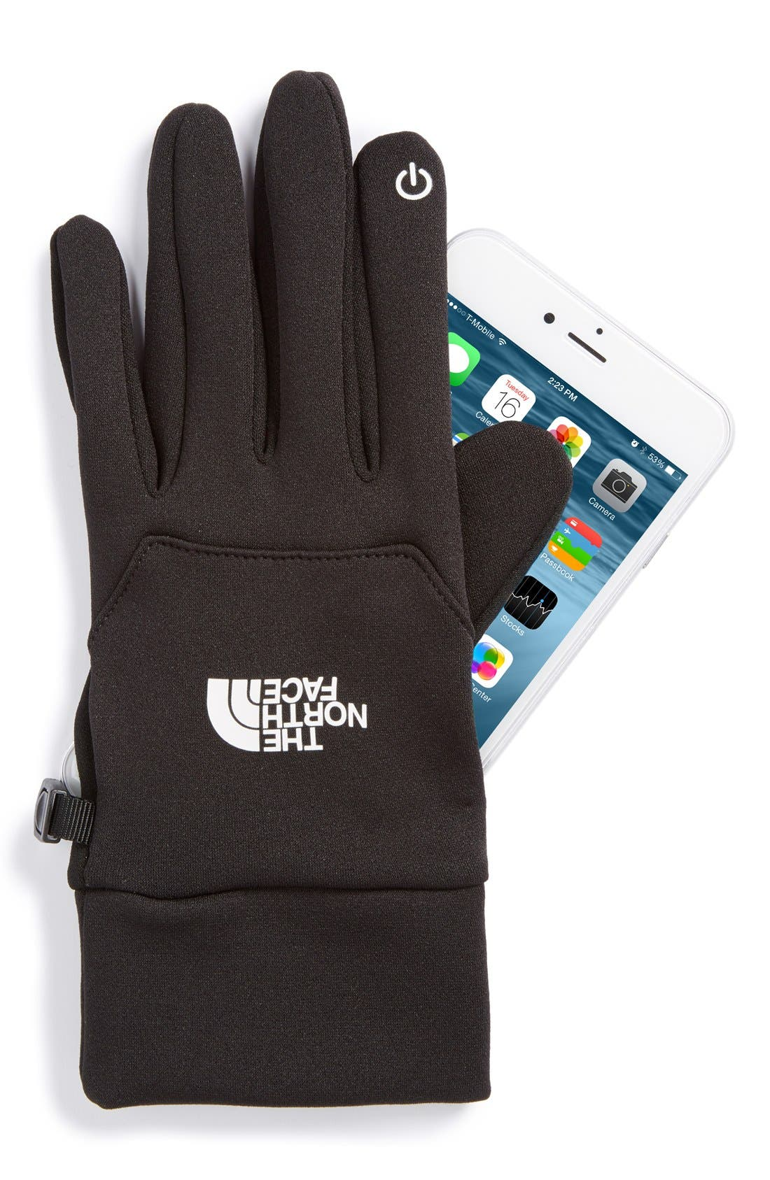 THE NORTH FACE,                             'eTip' Gloves,                             Alternate thumbnail 2, color,                             001