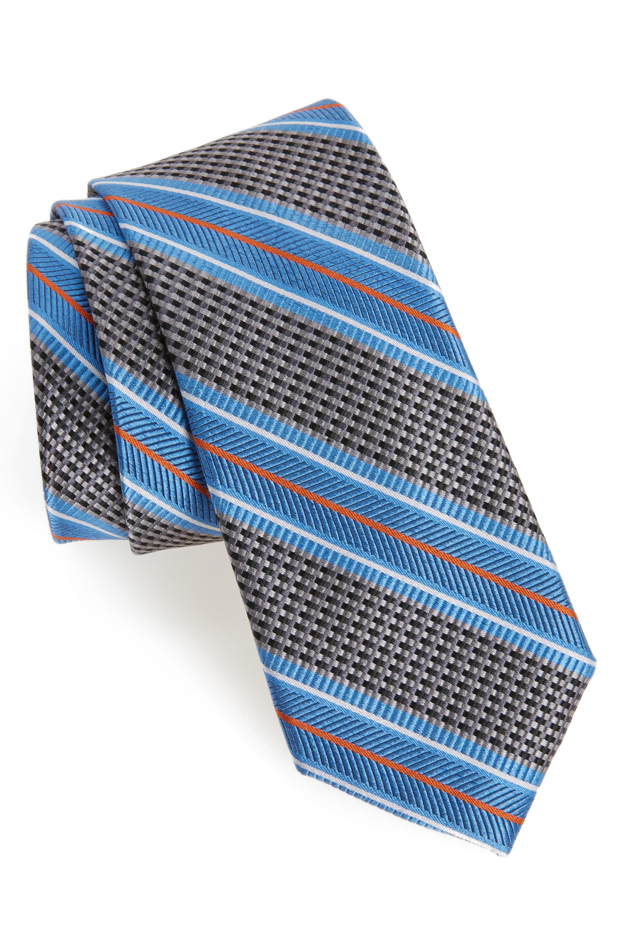 Textured Stripes Silk Tie,                             Main thumbnail 1, color,                             025