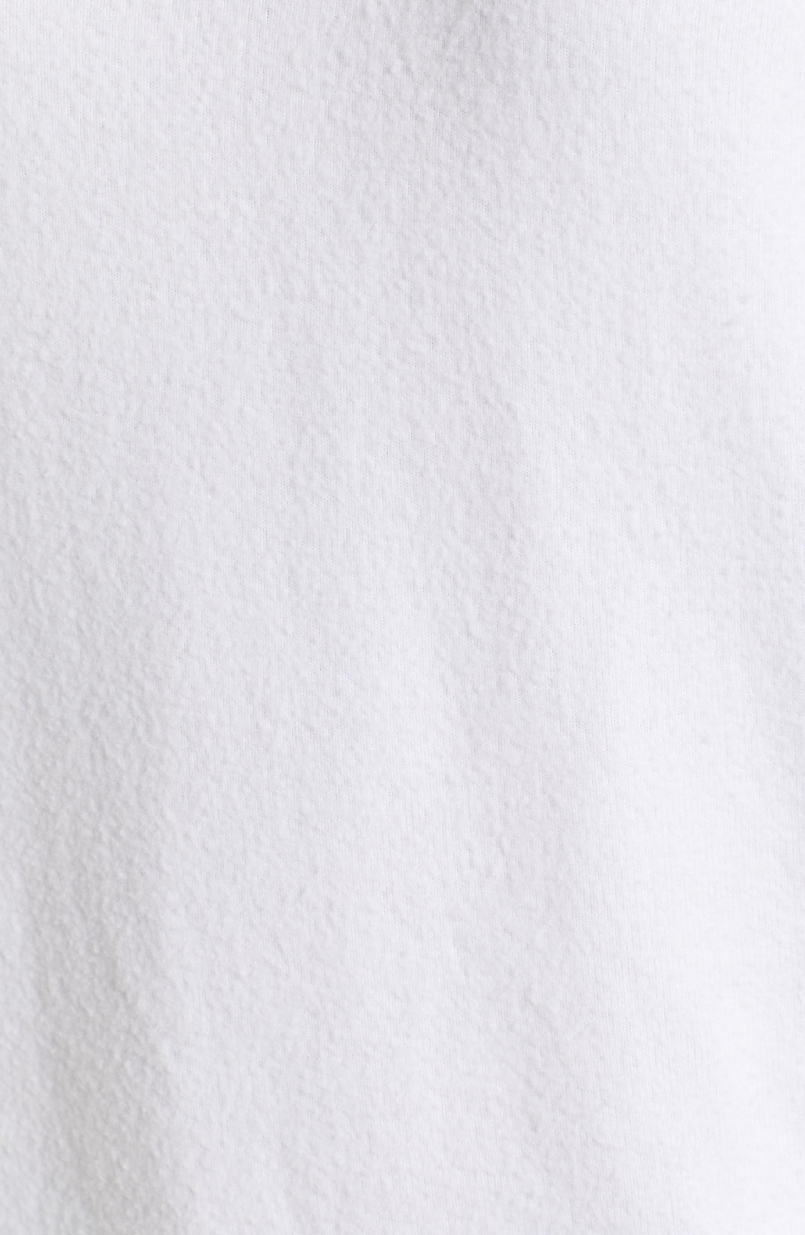 Be Happy Sweatshirt,                             Alternate thumbnail 5, color,                             CLEAN WHITE