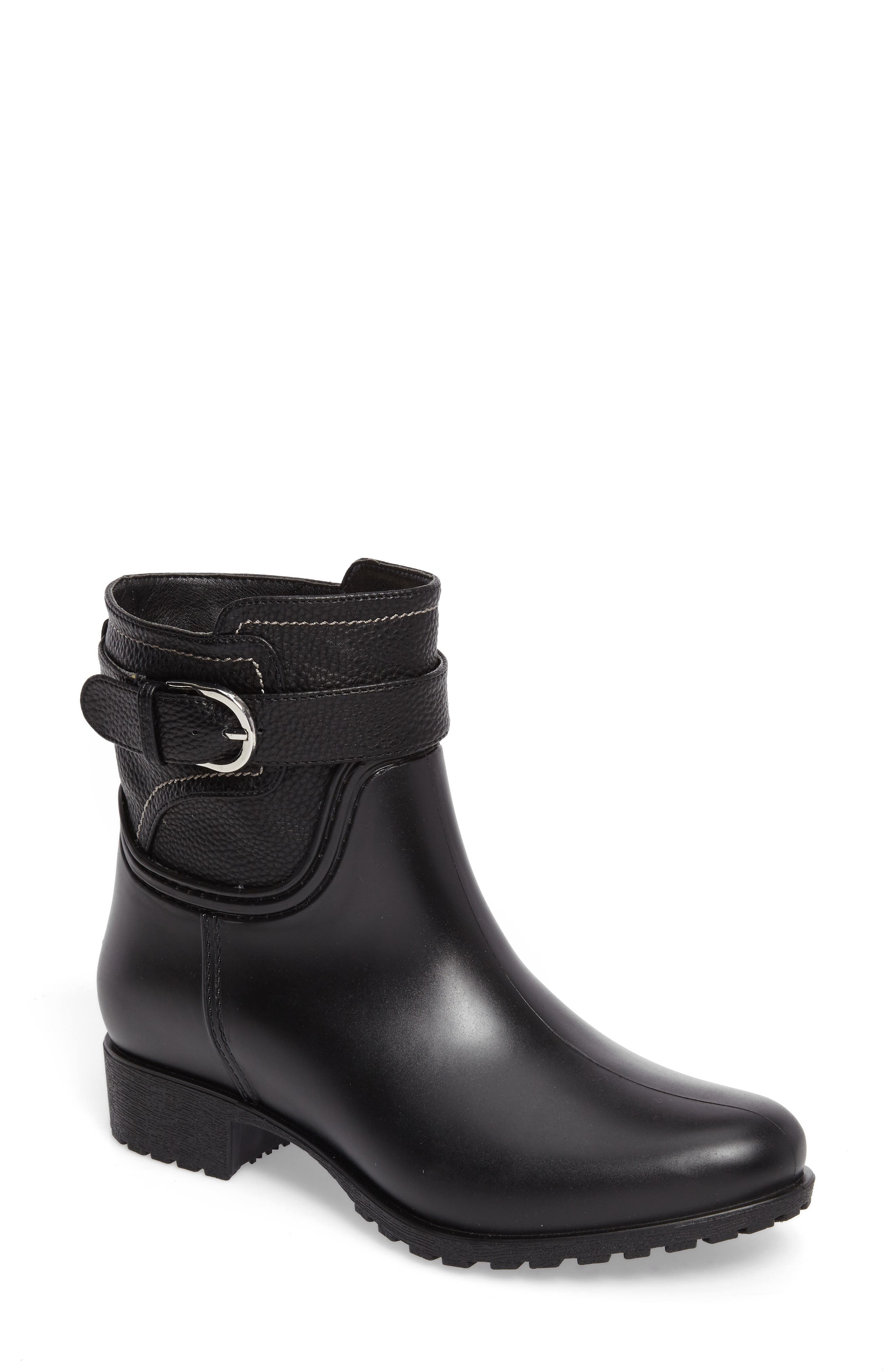 Bowie Faux Water Resistant Mid Boot,                             Main thumbnail 1, color,                             001