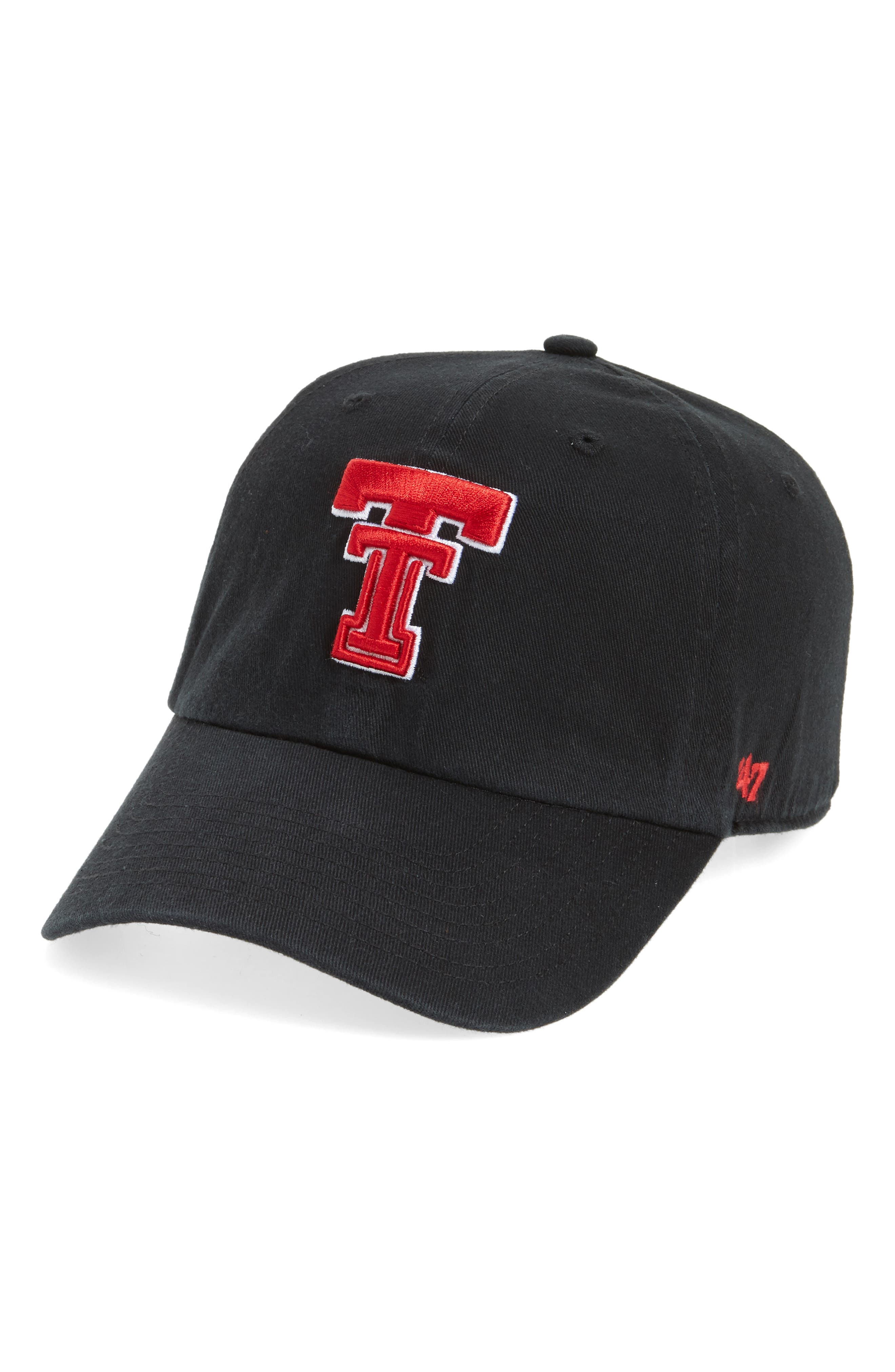 Texas Tech Clean Up Baseball Cap,                             Main thumbnail 1, color,                             001