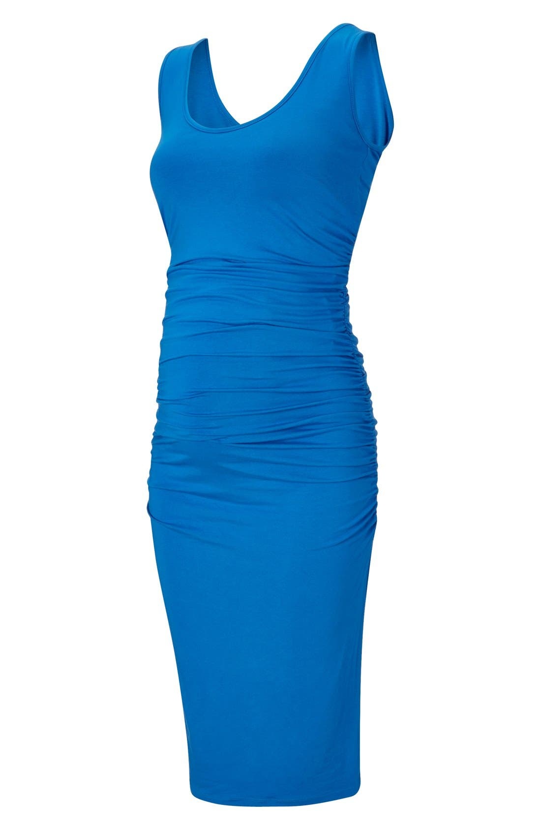 ISABELLA OLIVER,                             'Ellis' Maternity Tank Dress,                             Alternate thumbnail 3, color,                             PEACOCK BLUE
