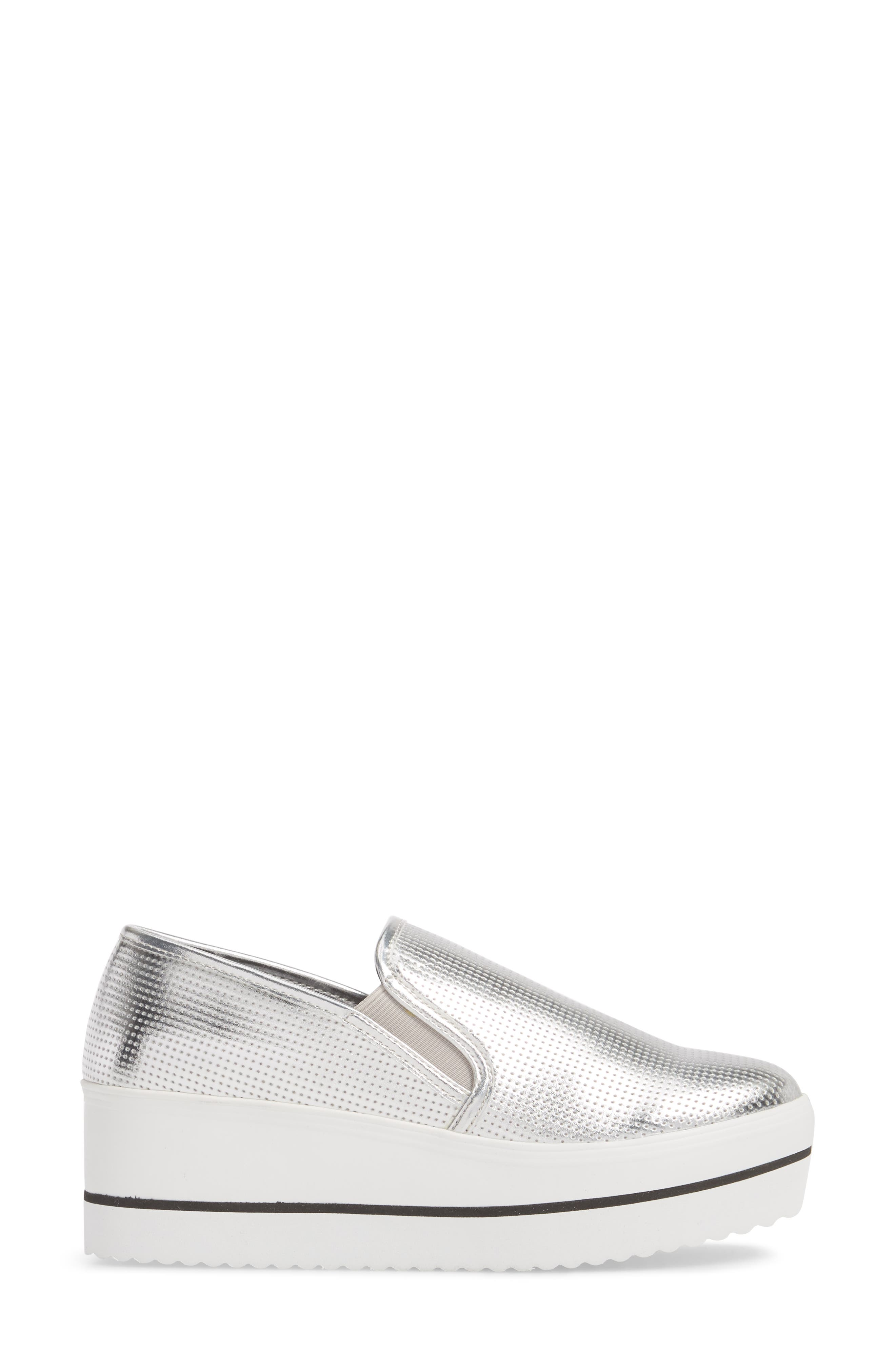 Becca Slip-On Sneaker,                             Alternate thumbnail 3, color,                             SILVER