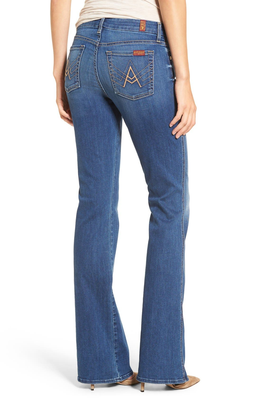'b(air) - A Pocket' Flare Jeans,                             Alternate thumbnail 4, color,