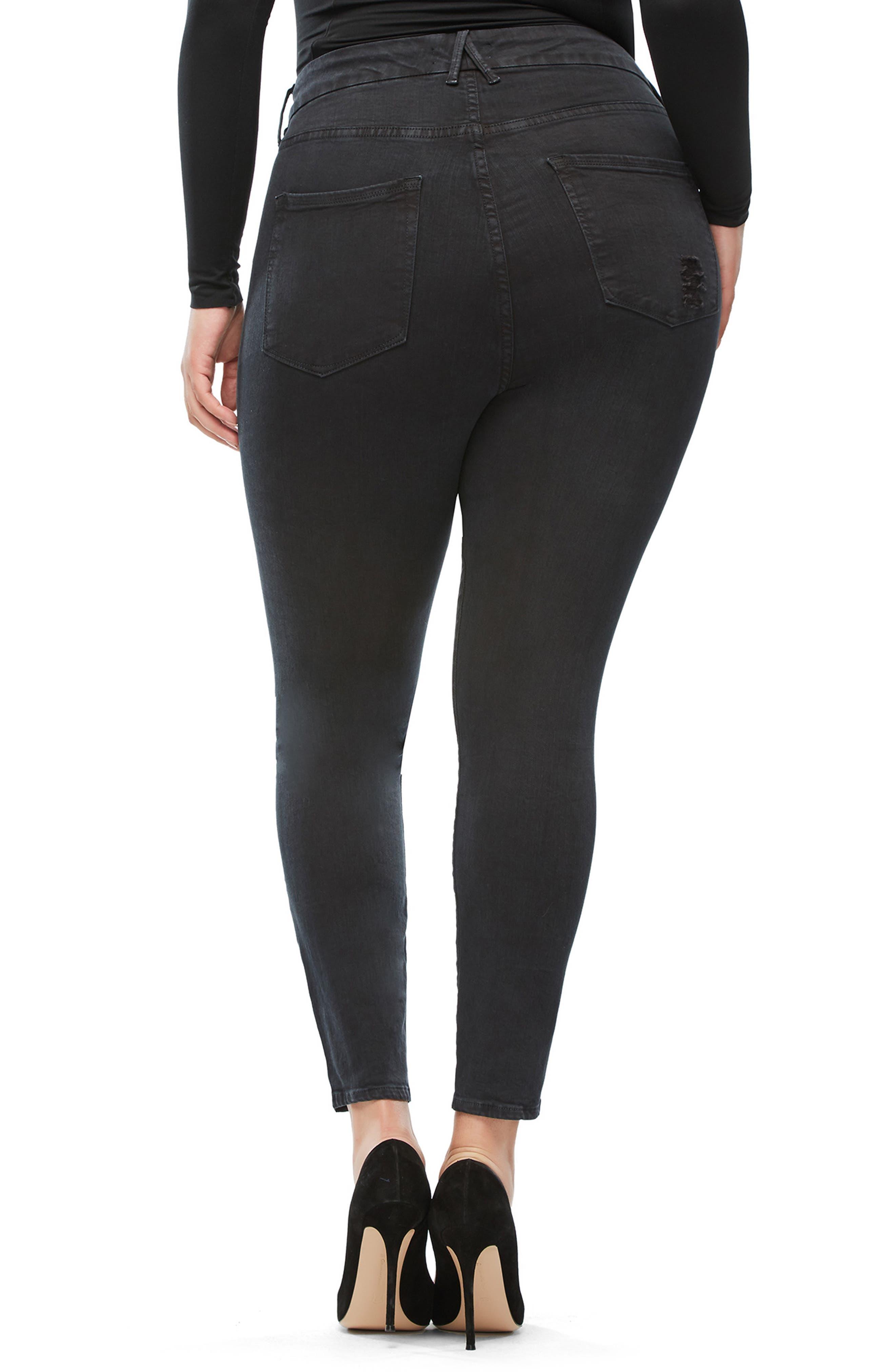 Good Legs High Waist Skinny Jeans,                             Alternate thumbnail 6, color,                             001
