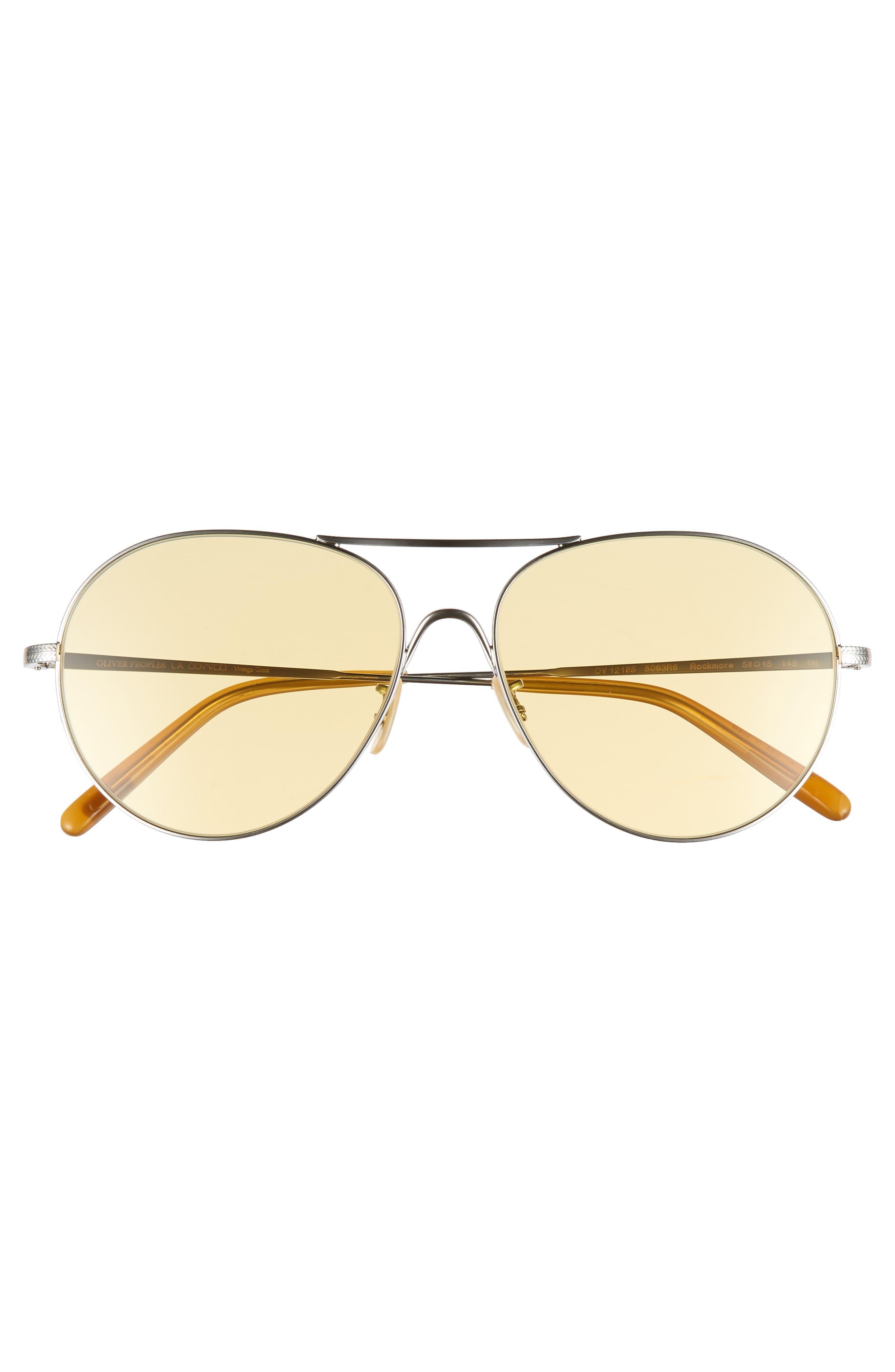 Rockmore 58mm Aviator Sunglasses,                             Alternate thumbnail 3, color,                             SILVER