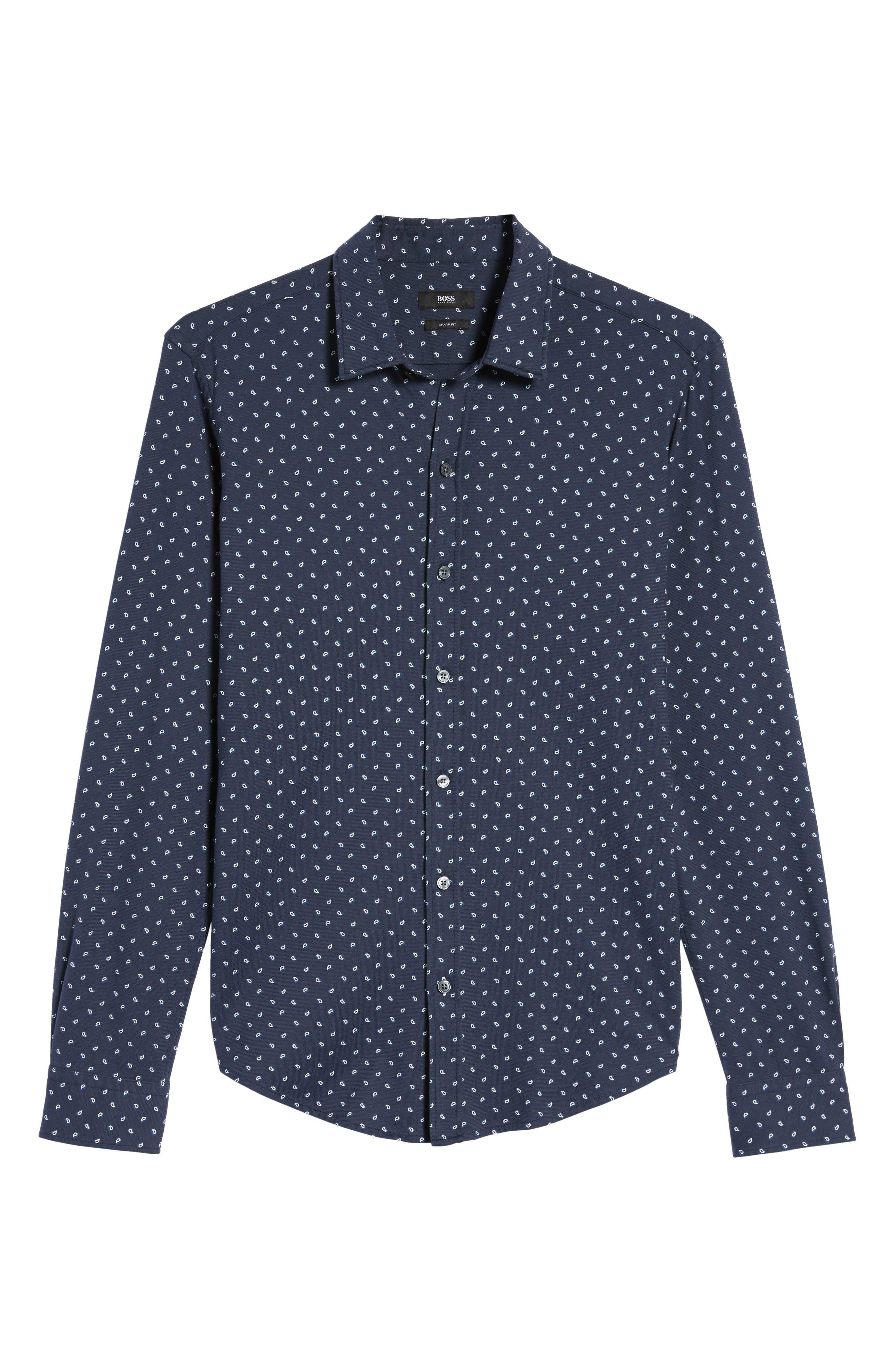 Sharp Fit Paisley Sport Shirt,                             Alternate thumbnail 6, color,                             410
