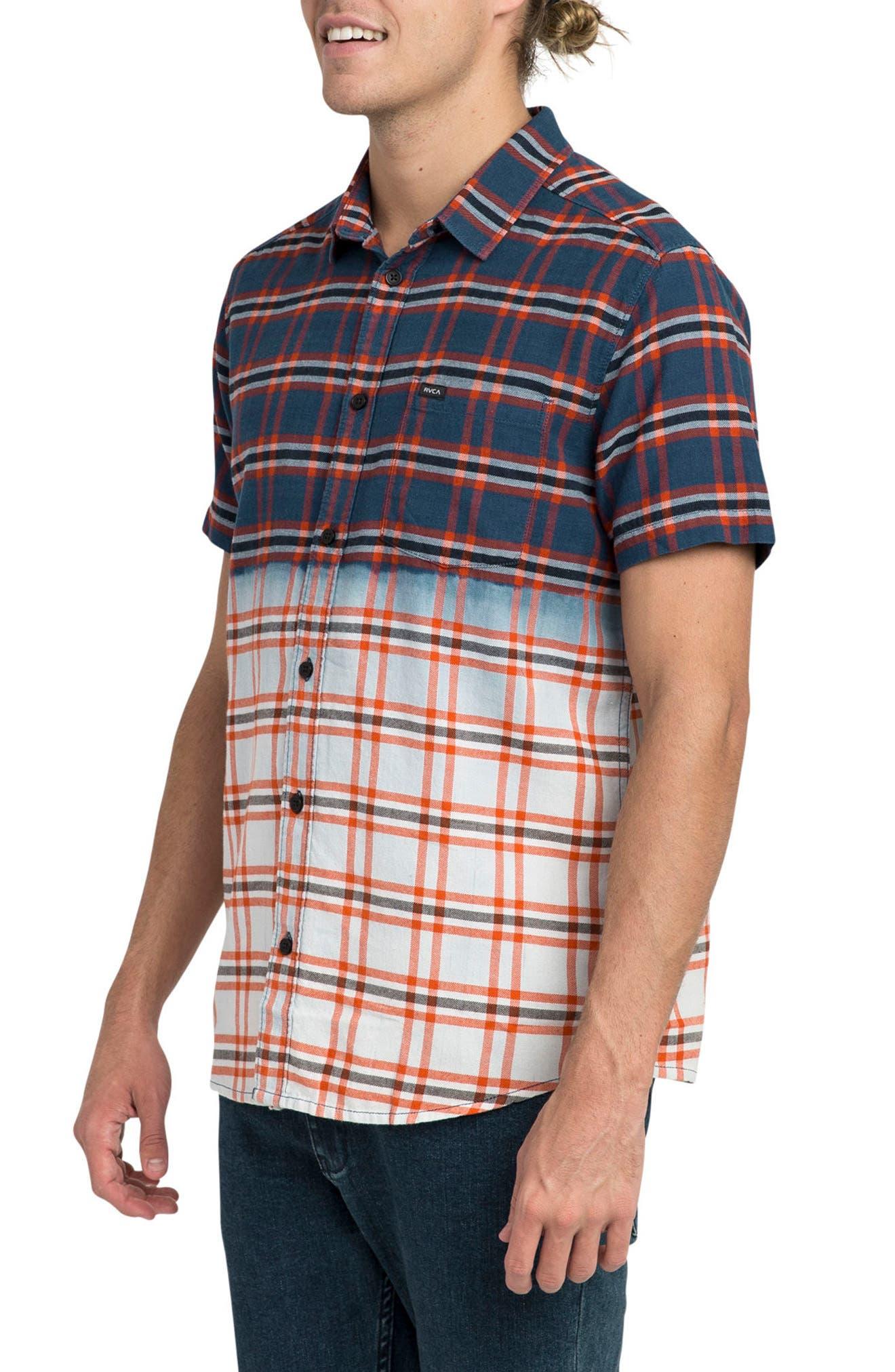 Prismatic Check Woven Shirt,                             Alternate thumbnail 3, color,                             458