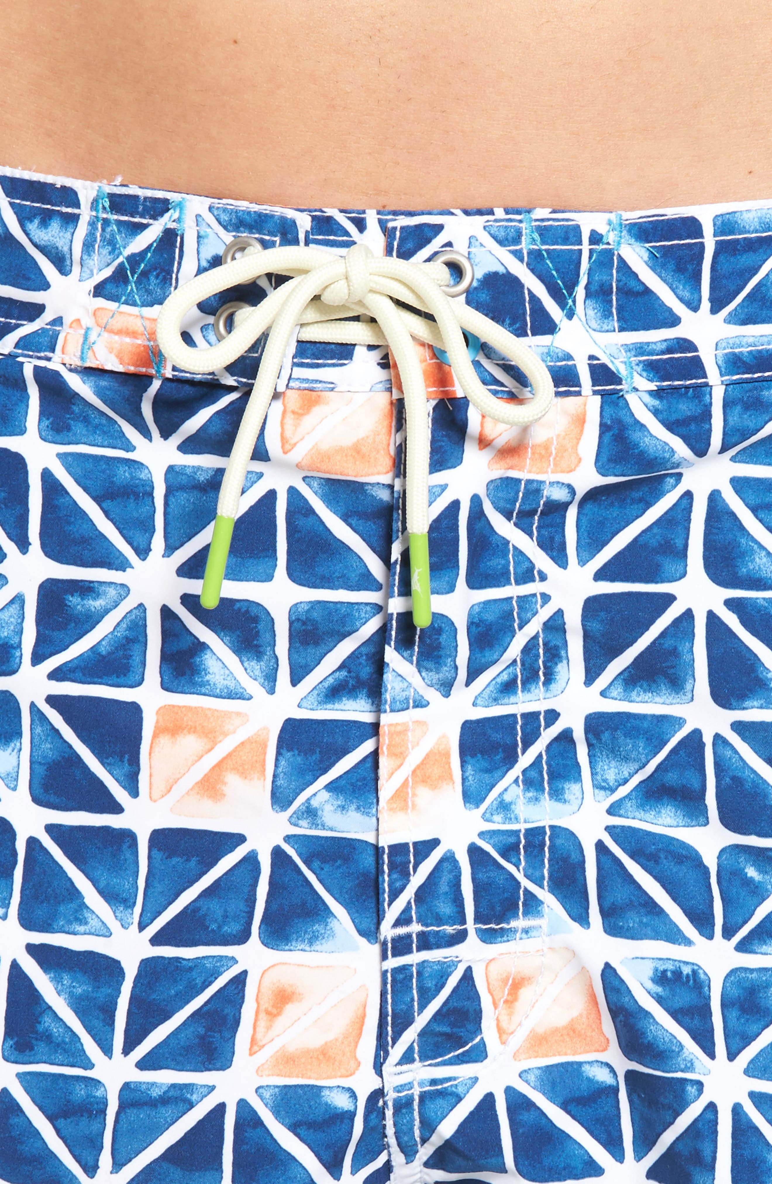 Baja Jupiter Geo Swim Trunks,                             Alternate thumbnail 4, color,                             401