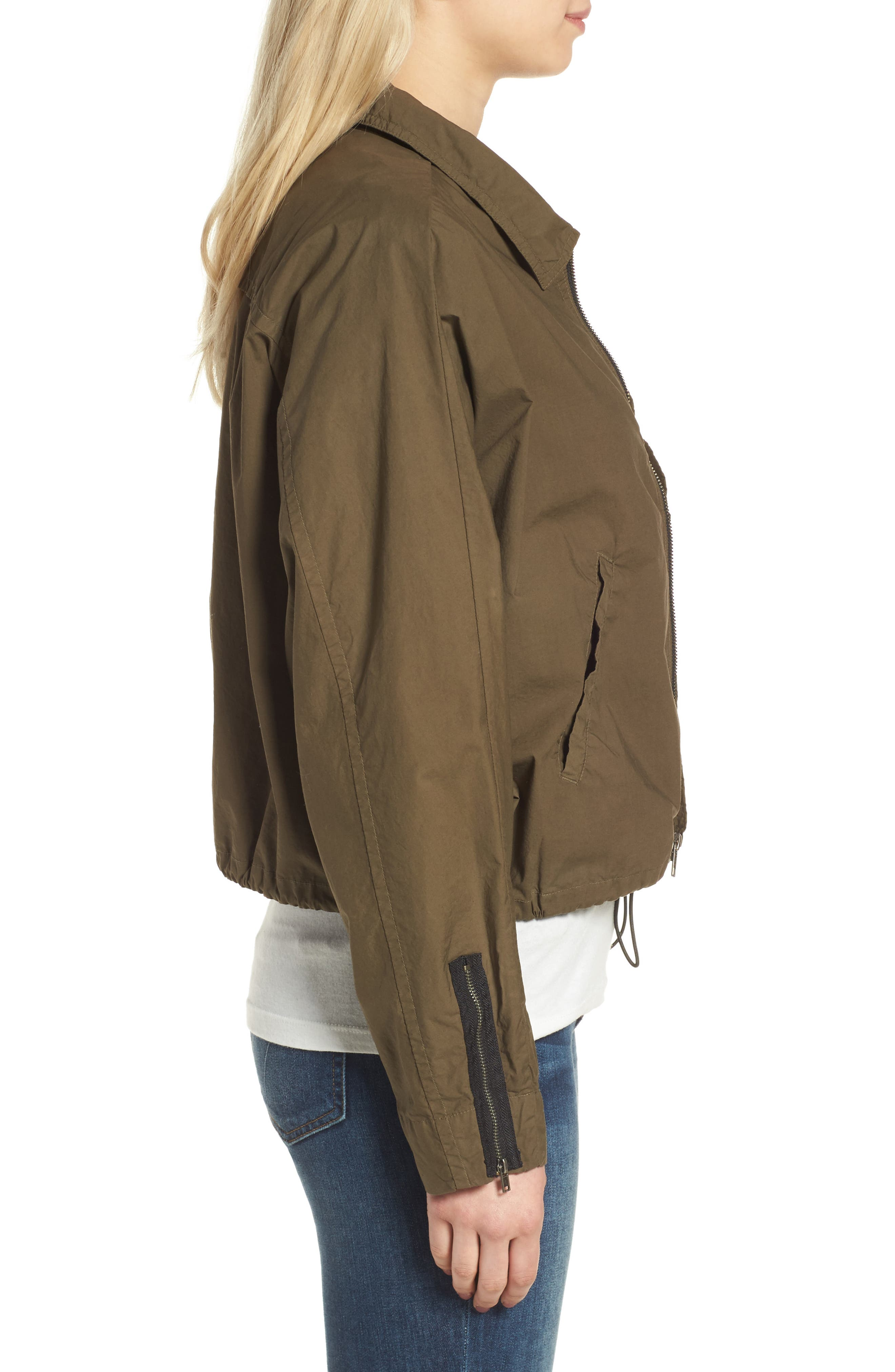 Dolman Sleeve Bomber Jacket,                             Alternate thumbnail 6, color,