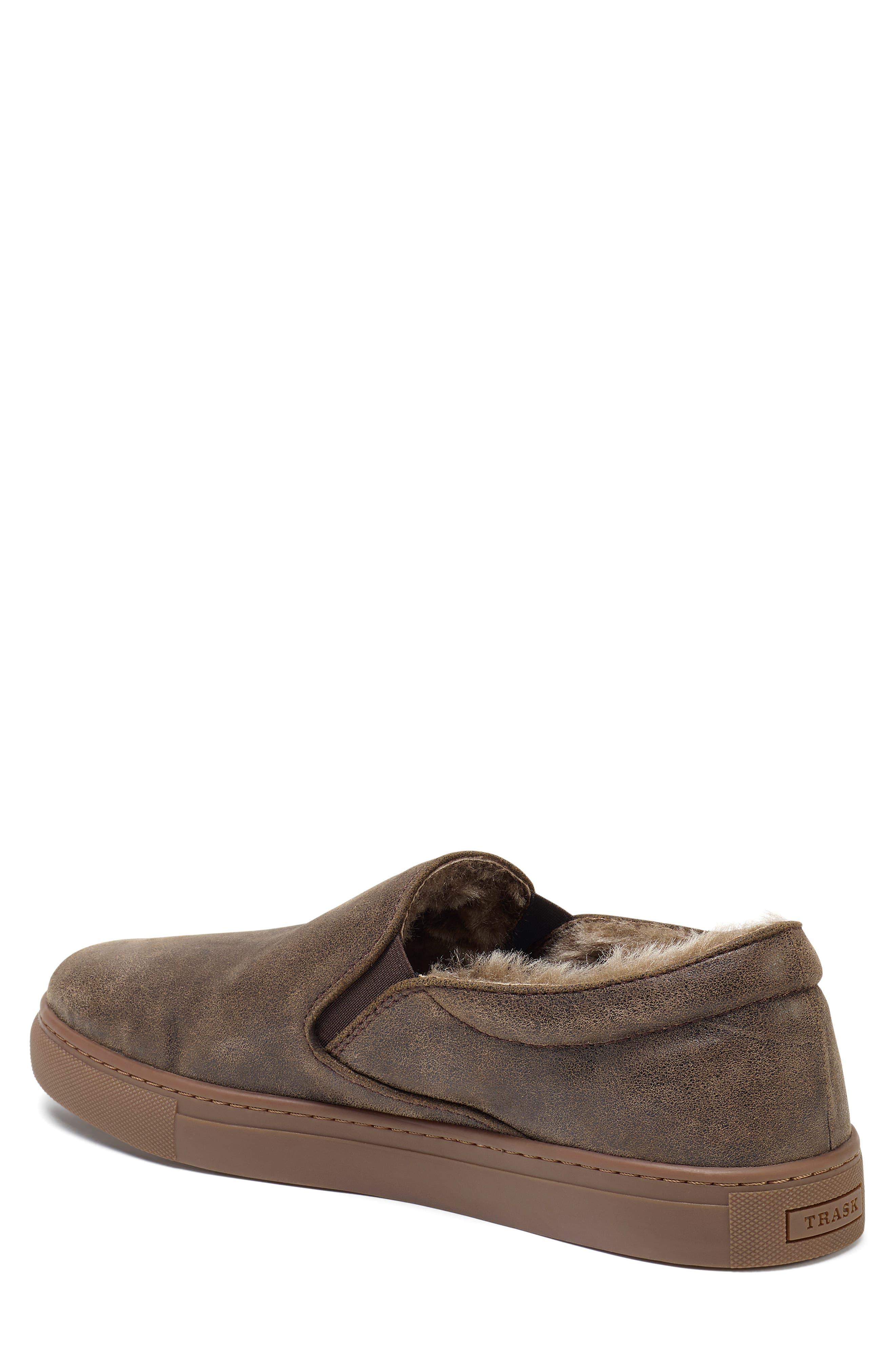 Alex Genuine Shearling Slip-On Sneaker,                             Alternate thumbnail 2, color,                             BROWN SUEDE
