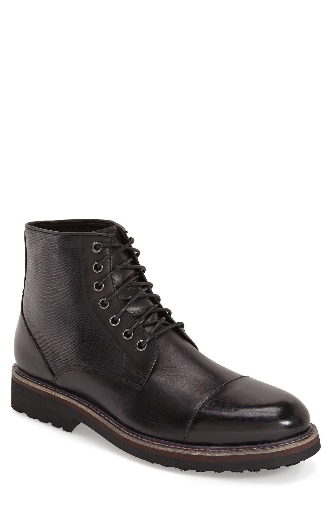 'Northstar' Cap Toe Boot,                         Main,                         color, 001