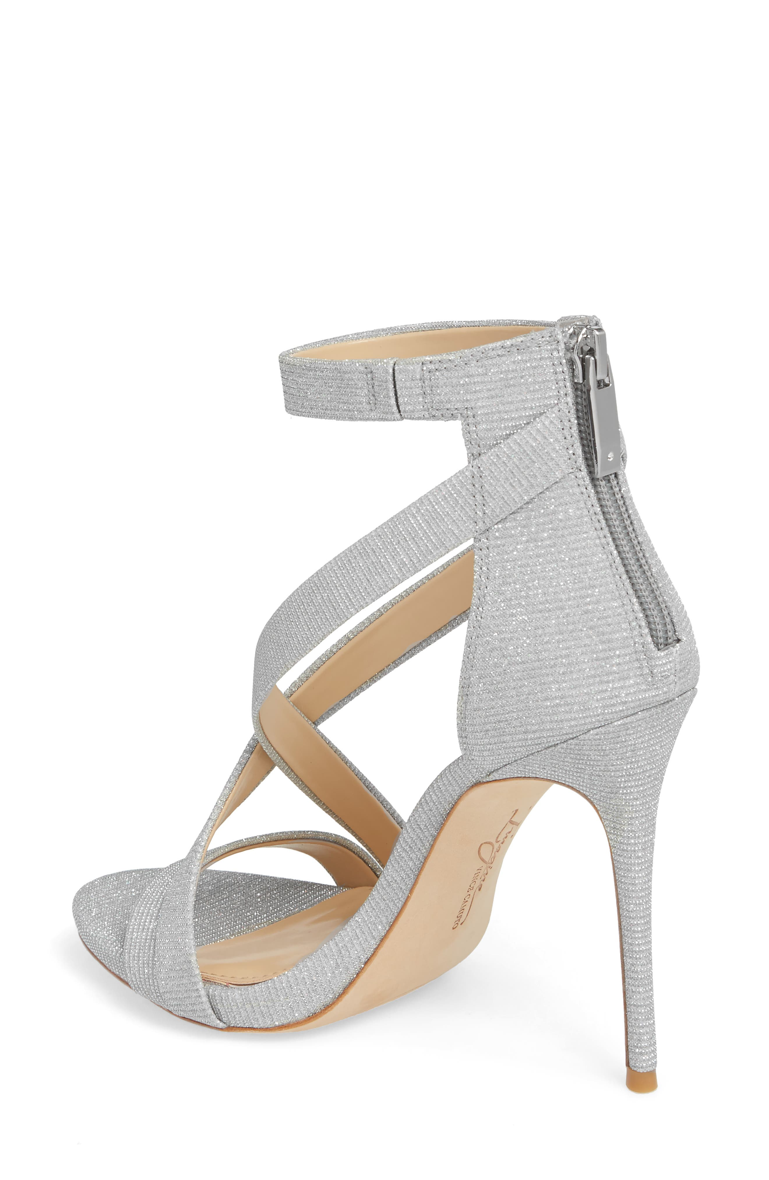 Imagine Vince Camuto 'Devin' Sandal,                             Alternate thumbnail 2, color,                             PLATINUM FABRIC