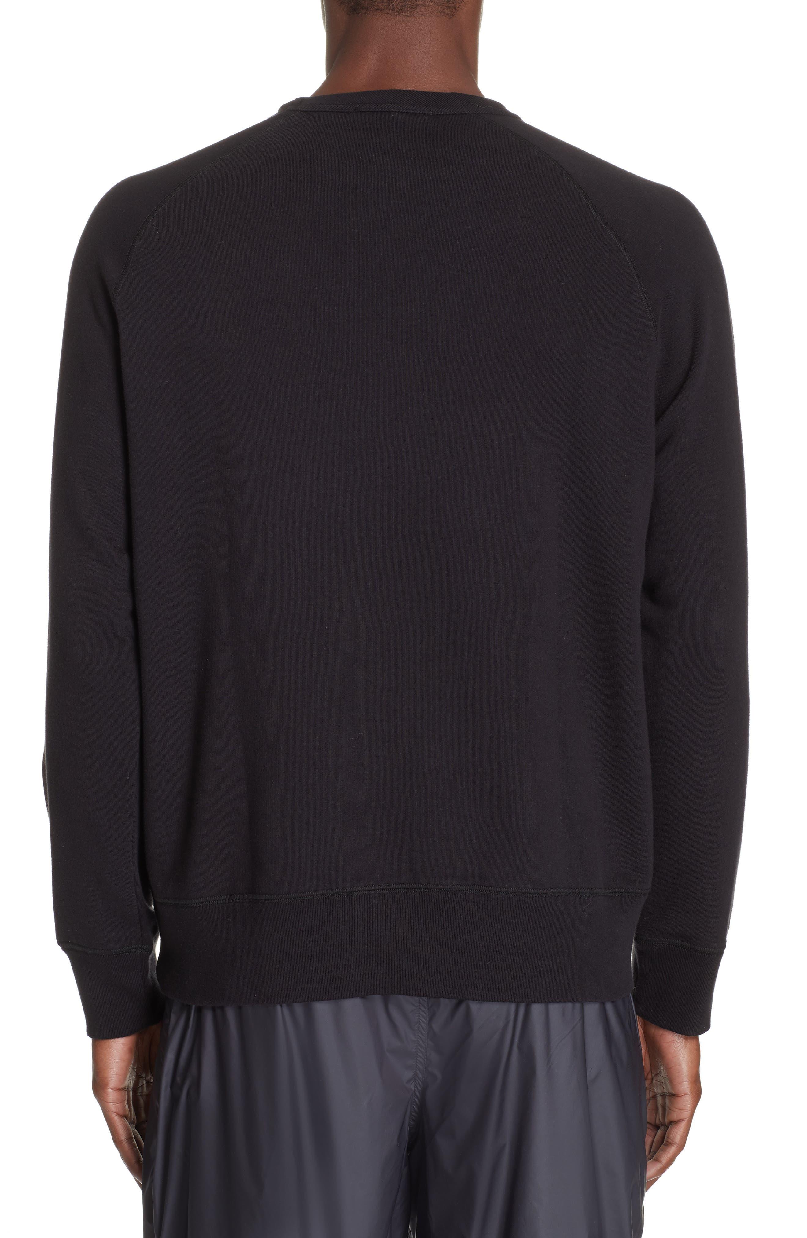 Crew Sweatshirt,                             Alternate thumbnail 2, color,                             BLACK LOOP SWEAT