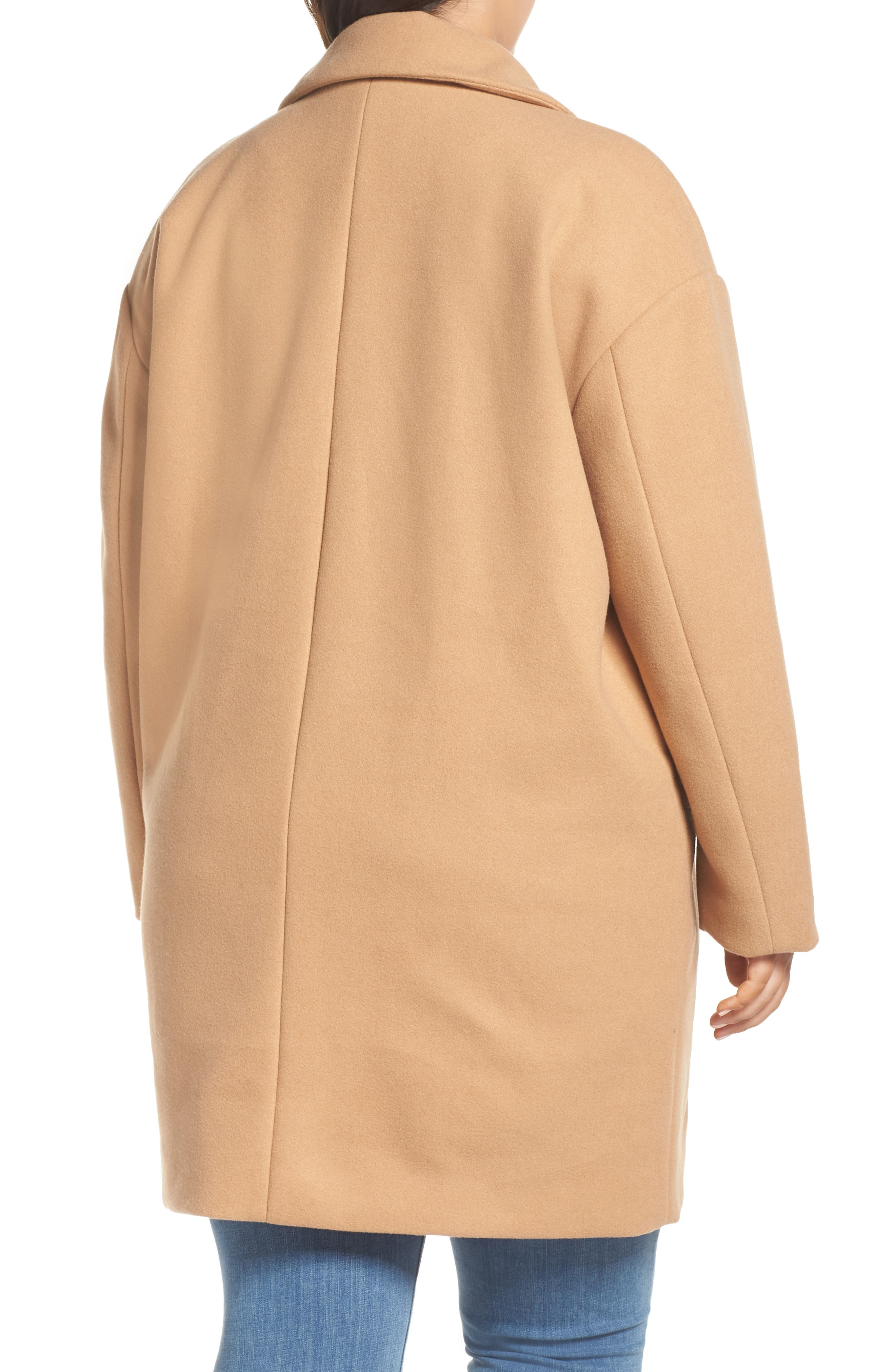 Oversize Double Breasted Coat,                             Alternate thumbnail 2, color,                             TAN