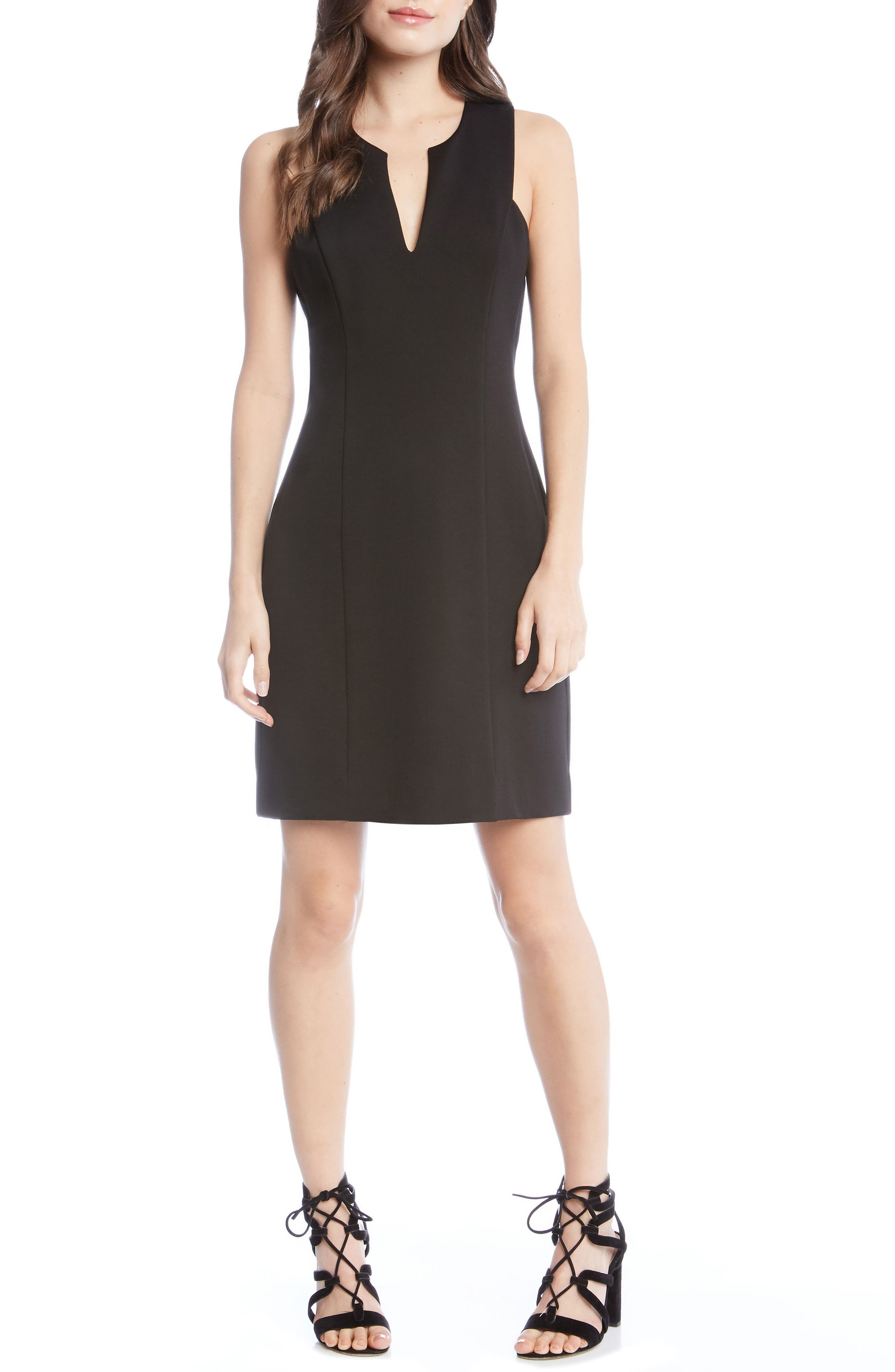 KAREN KANE,                             Stretch Sheath Dress,                             Main thumbnail 1, color,                             001