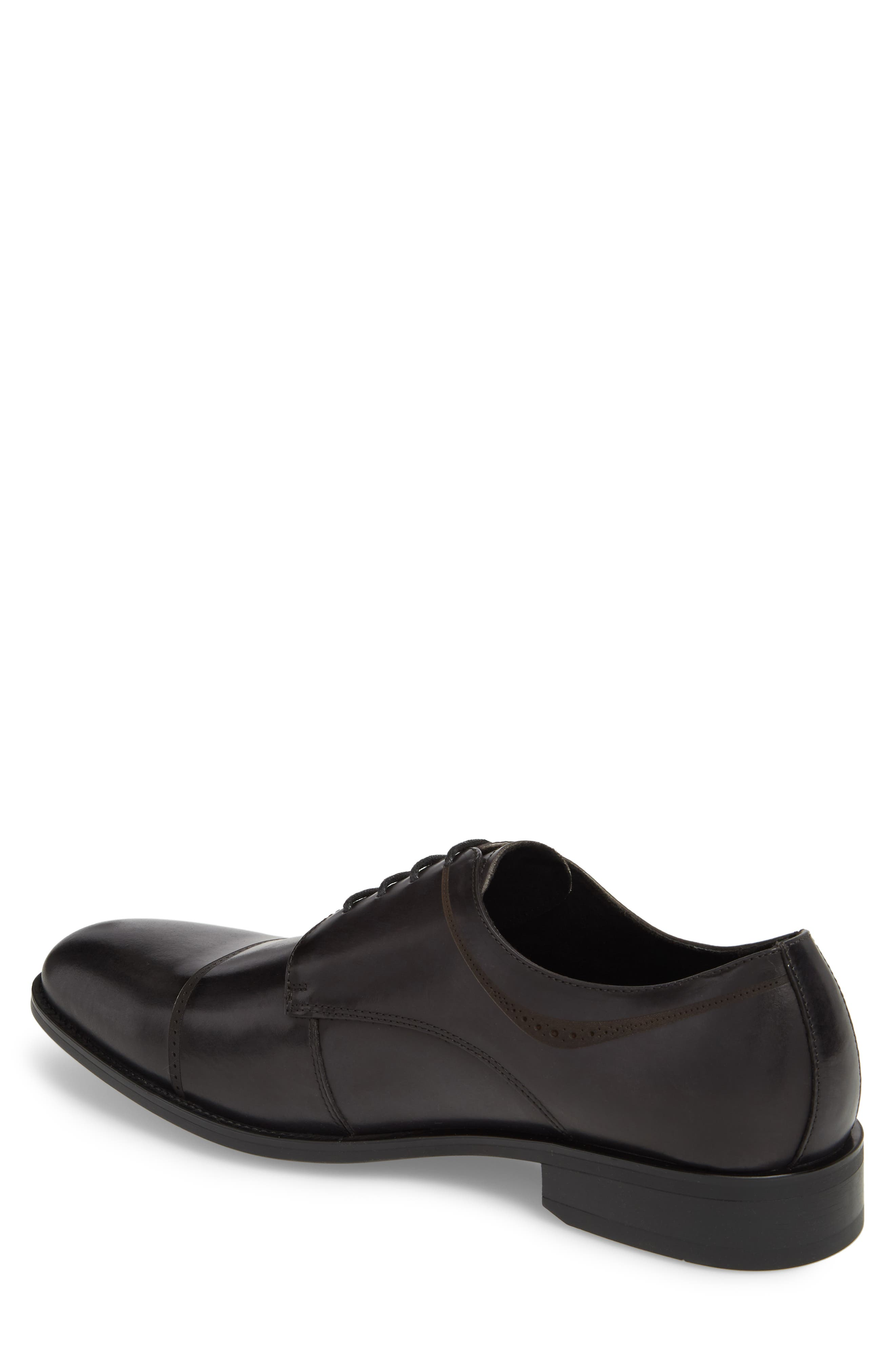 Leisure Time Cap Toe Derby,                             Alternate thumbnail 2, color,                             DARK GREY LEATHER
