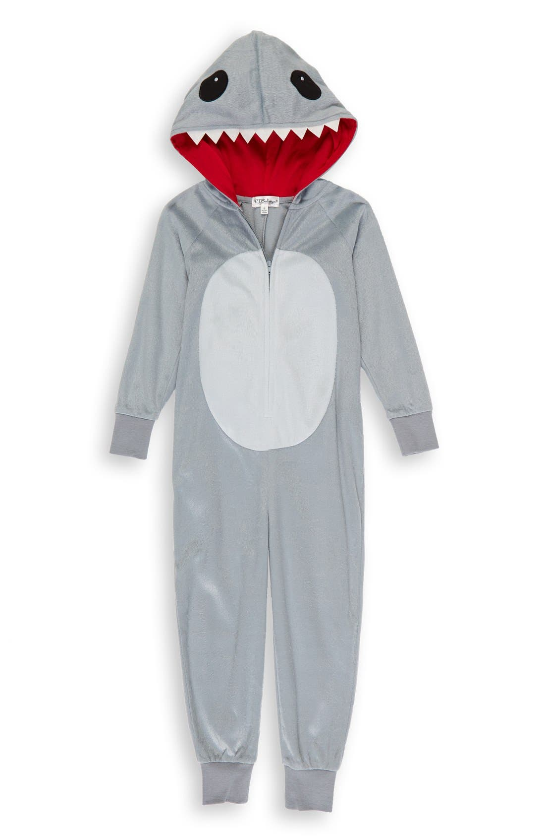 Shark One-Piece Pajamas,                             Main thumbnail 1, color,                             028