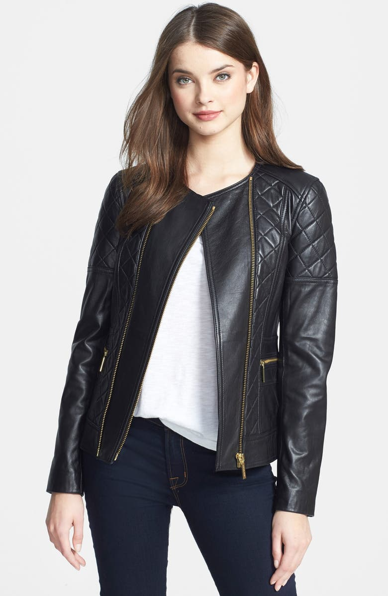 Michael Michael Kors Quilted Leather Moto Jacket Nordstrom