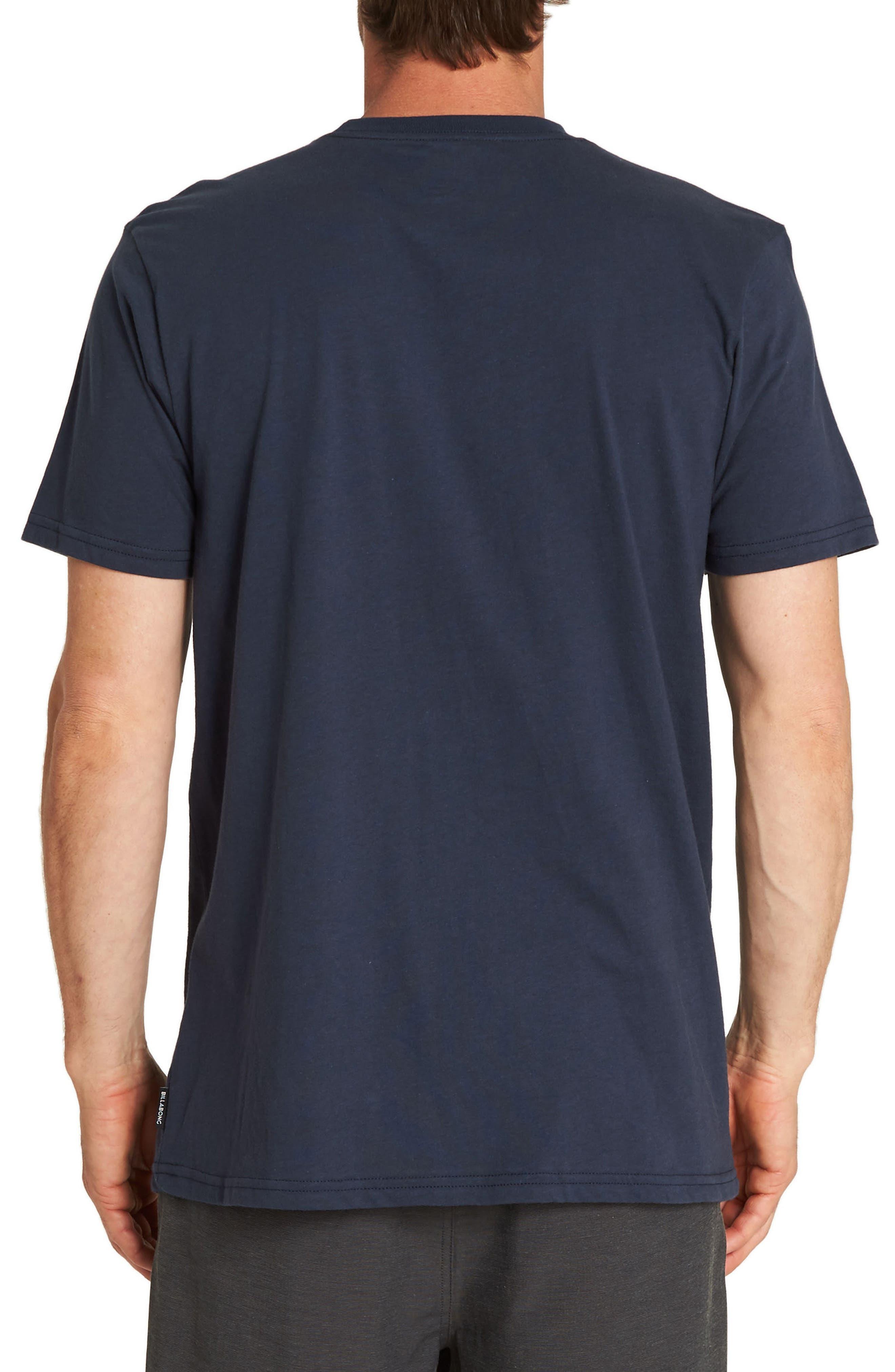 Team Print Pocket T-Shirt,                             Alternate thumbnail 2, color,                             NAVY