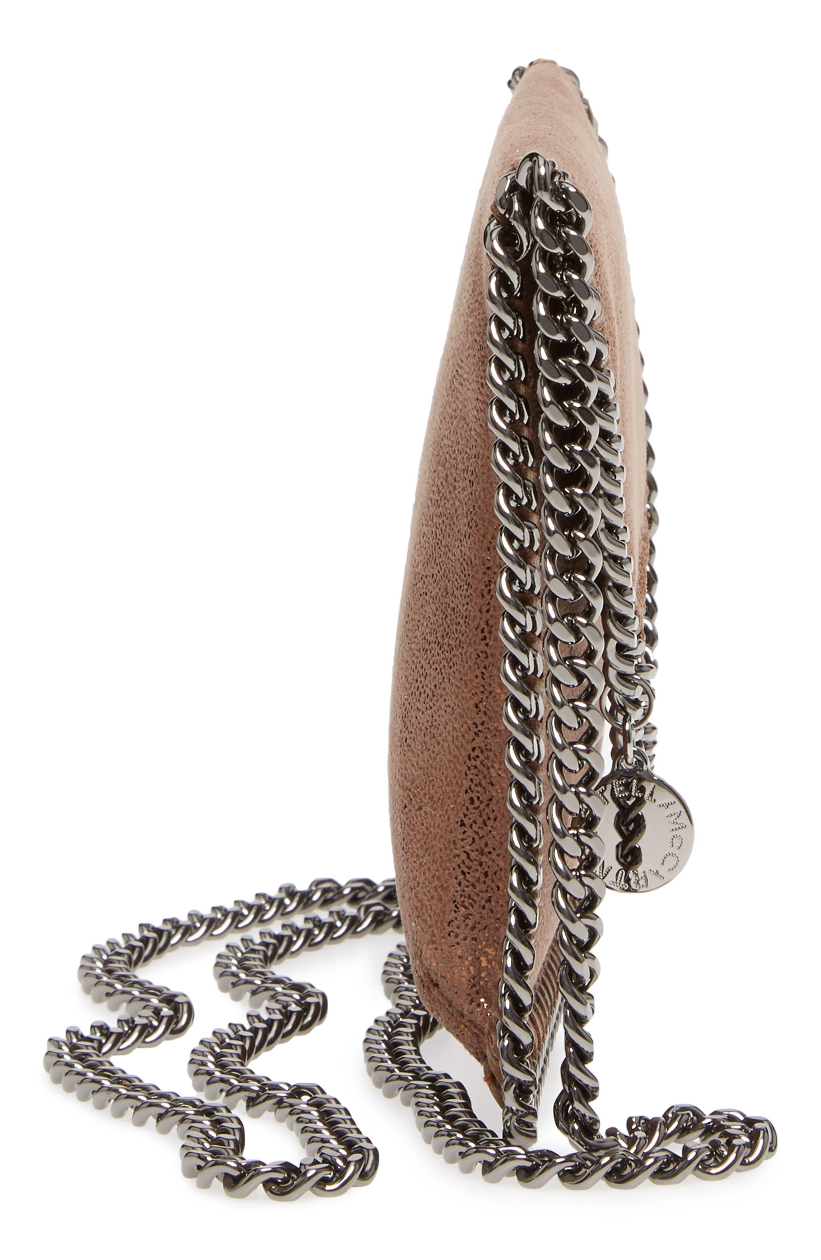Metallic Faux Leather Crossbody Bag,                             Alternate thumbnail 5, color,                             200