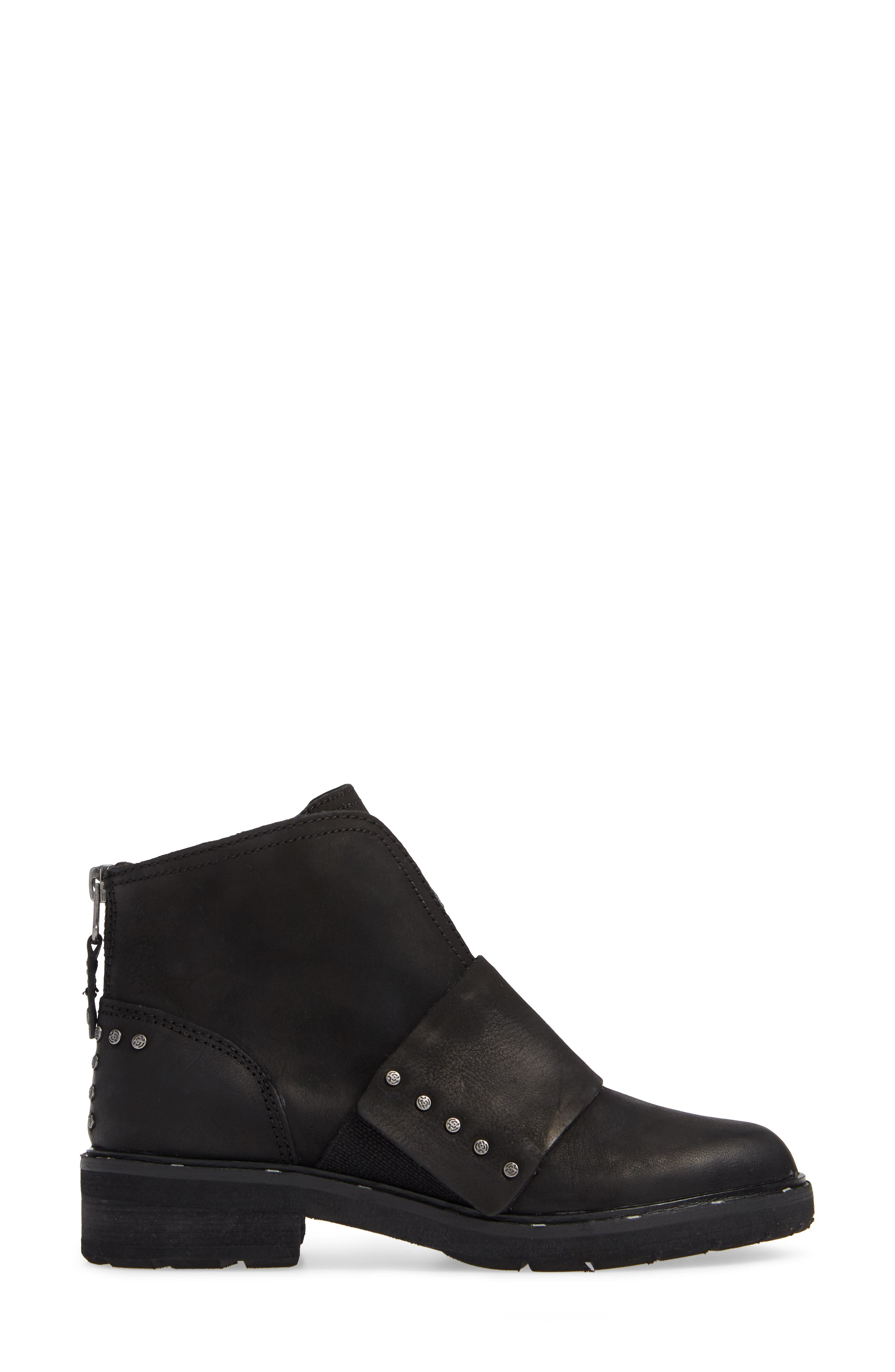 Frontage Bootie,                             Alternate thumbnail 3, color,                             BLACK LEATHER