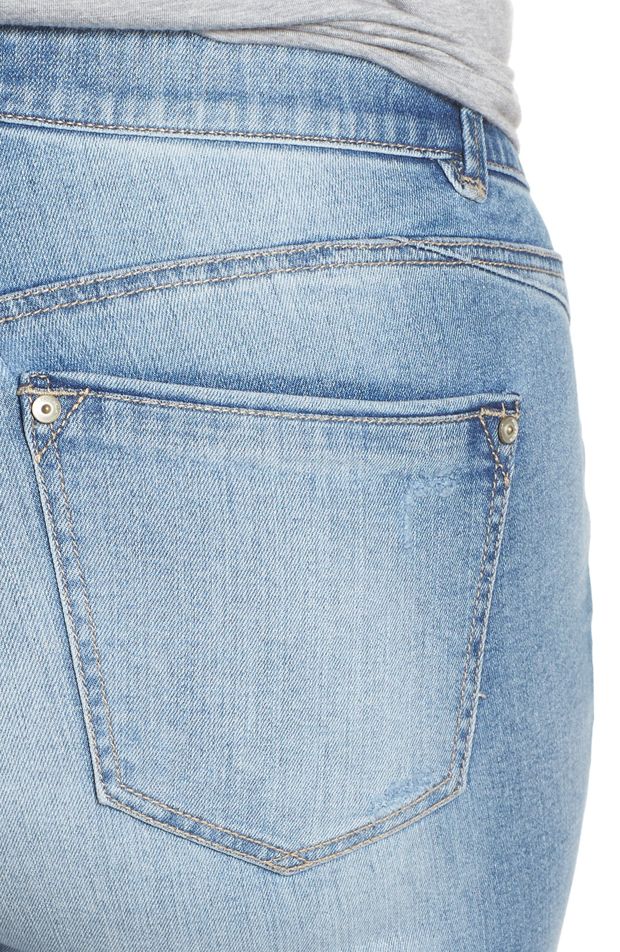 Ab-solution Cuffed Denim Shorts,                             Alternate thumbnail 4, color,                             458