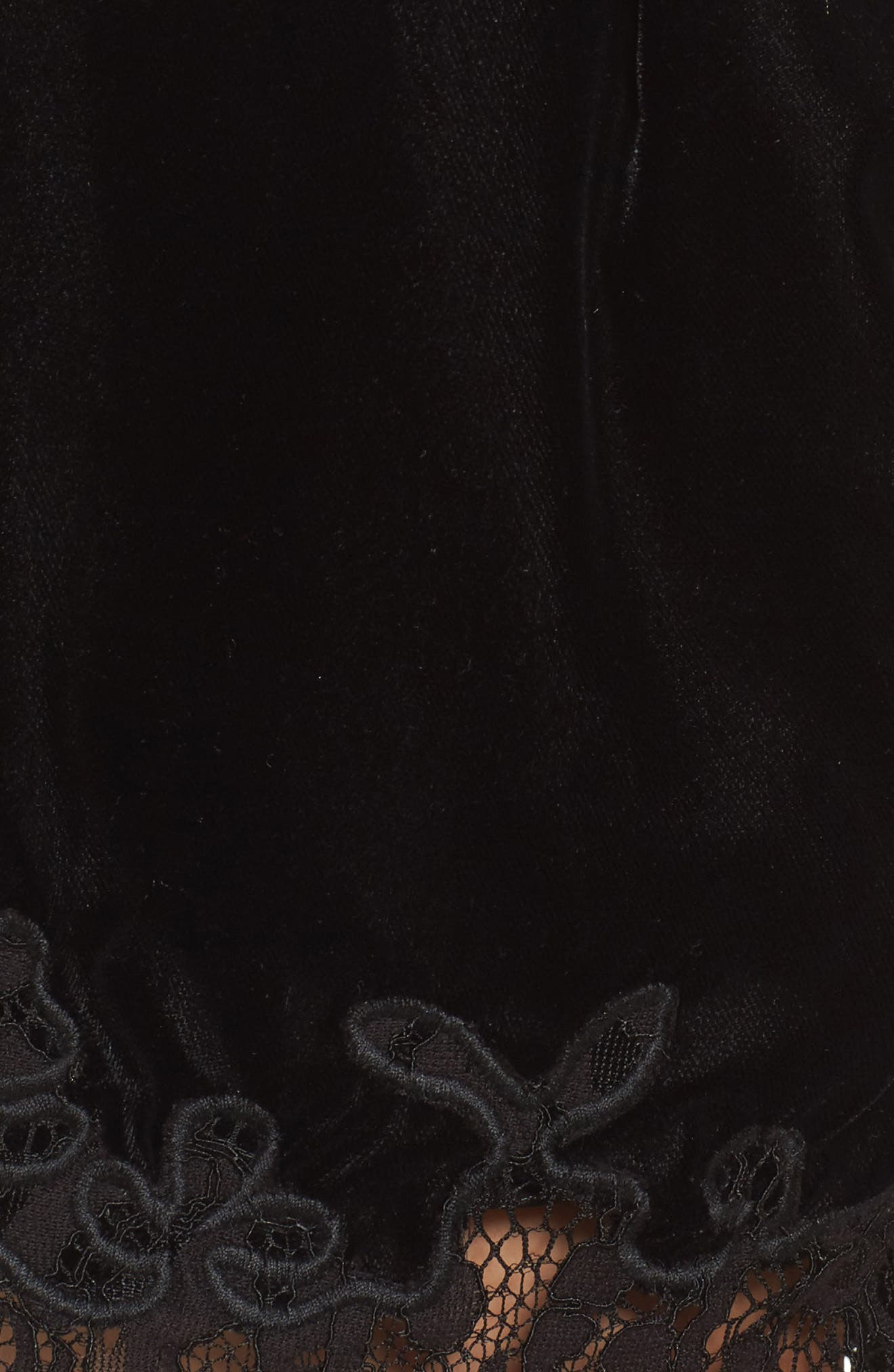 Amelia Lace & Velvet Shorts,                             Alternate thumbnail 5, color,                             001