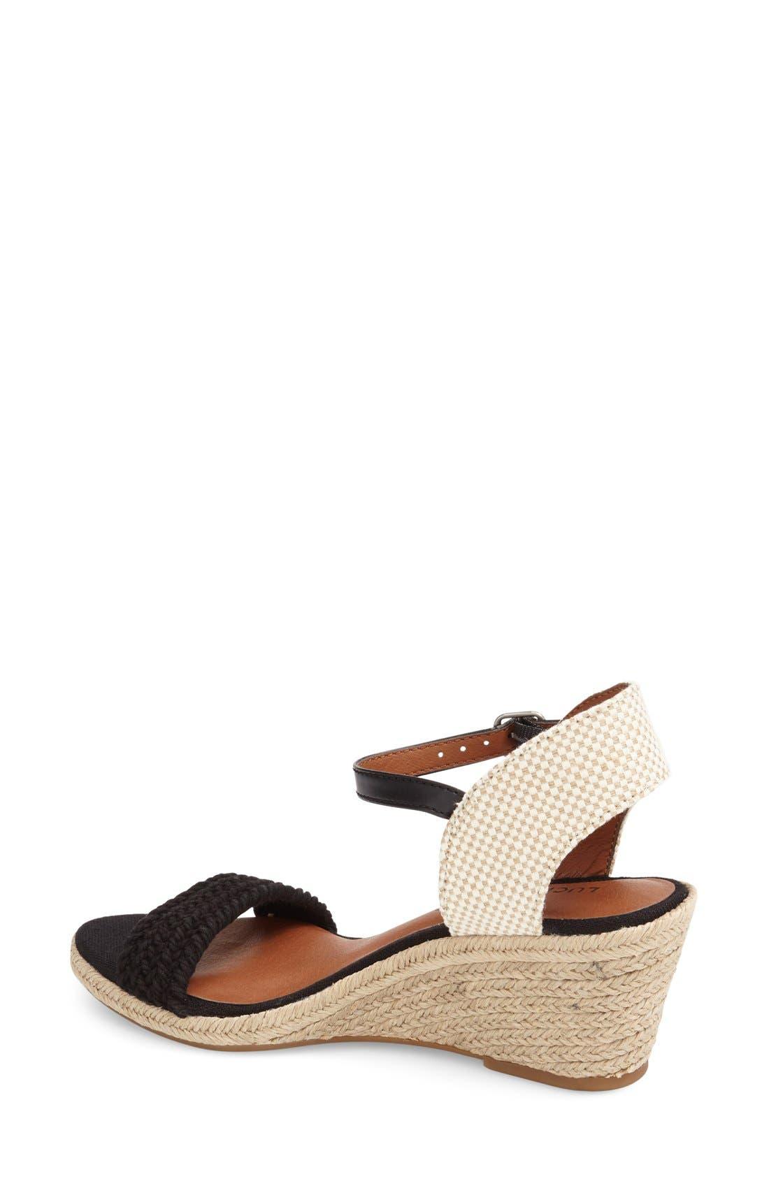 'Katereena' Wedge Sandal,                             Alternate thumbnail 4, color,                             001