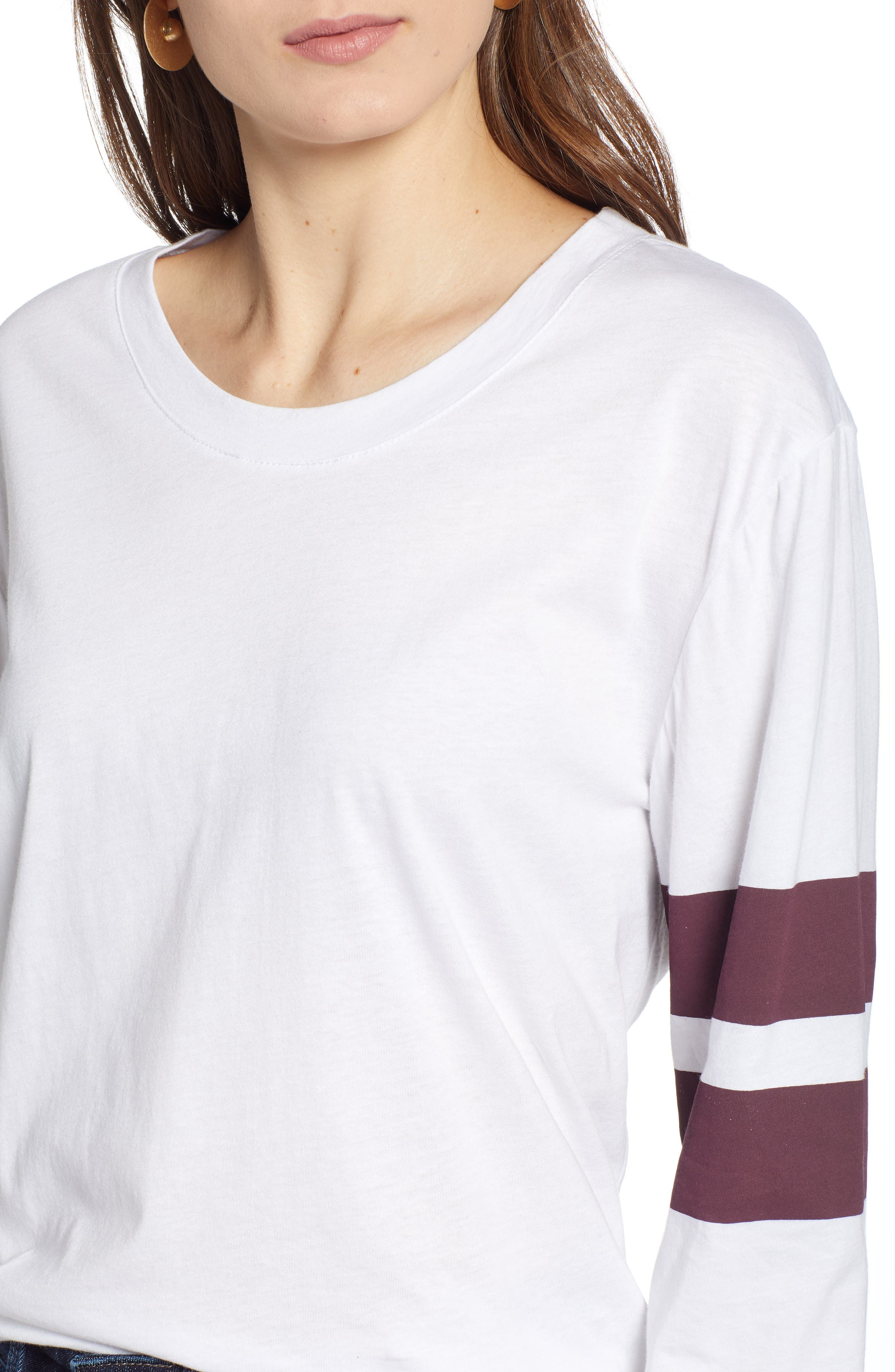 Varsity Stripe Cotton Tee,                             Alternate thumbnail 71, color,