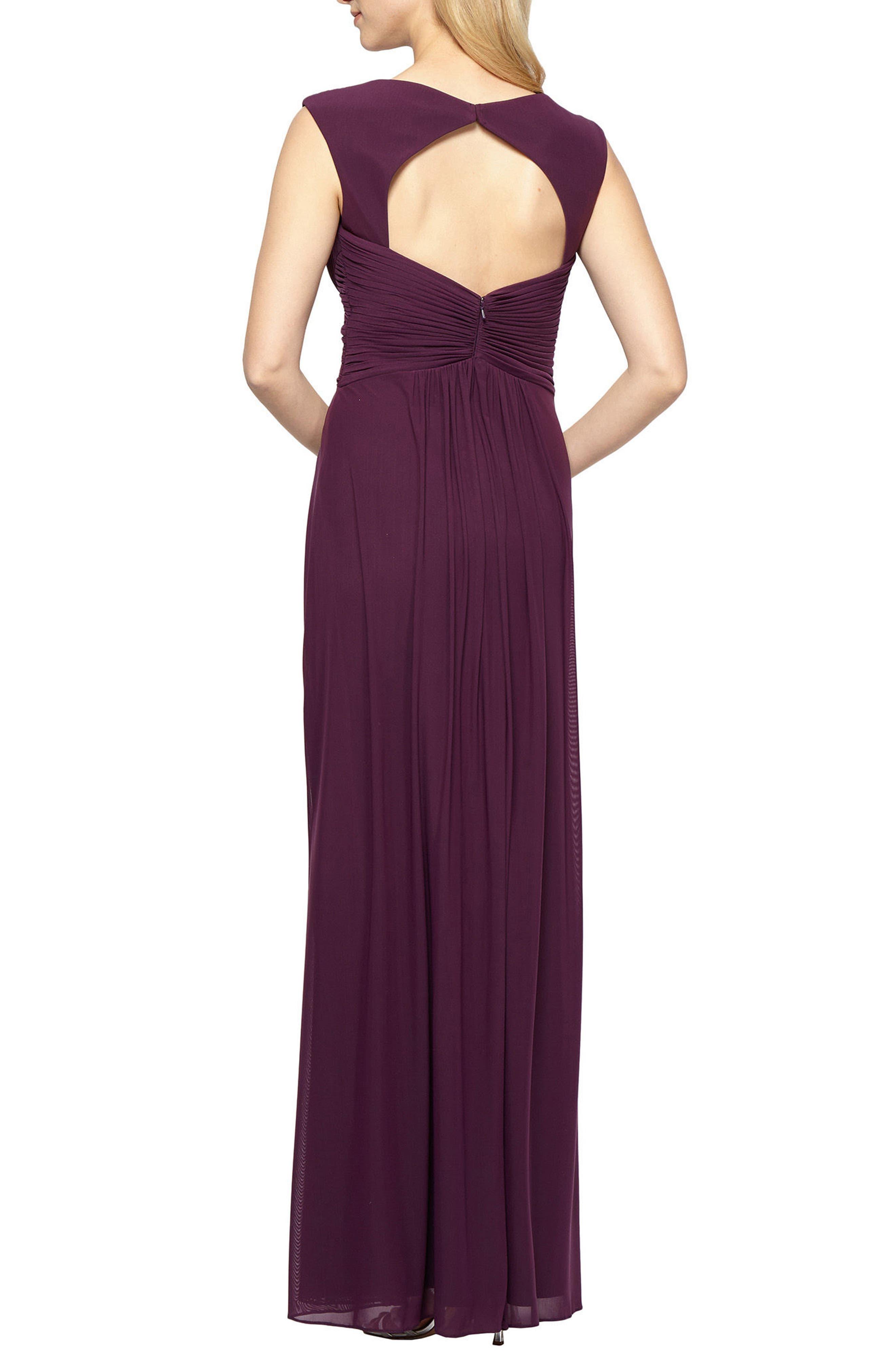 A-Line Gown,                             Alternate thumbnail 2, color,                             542