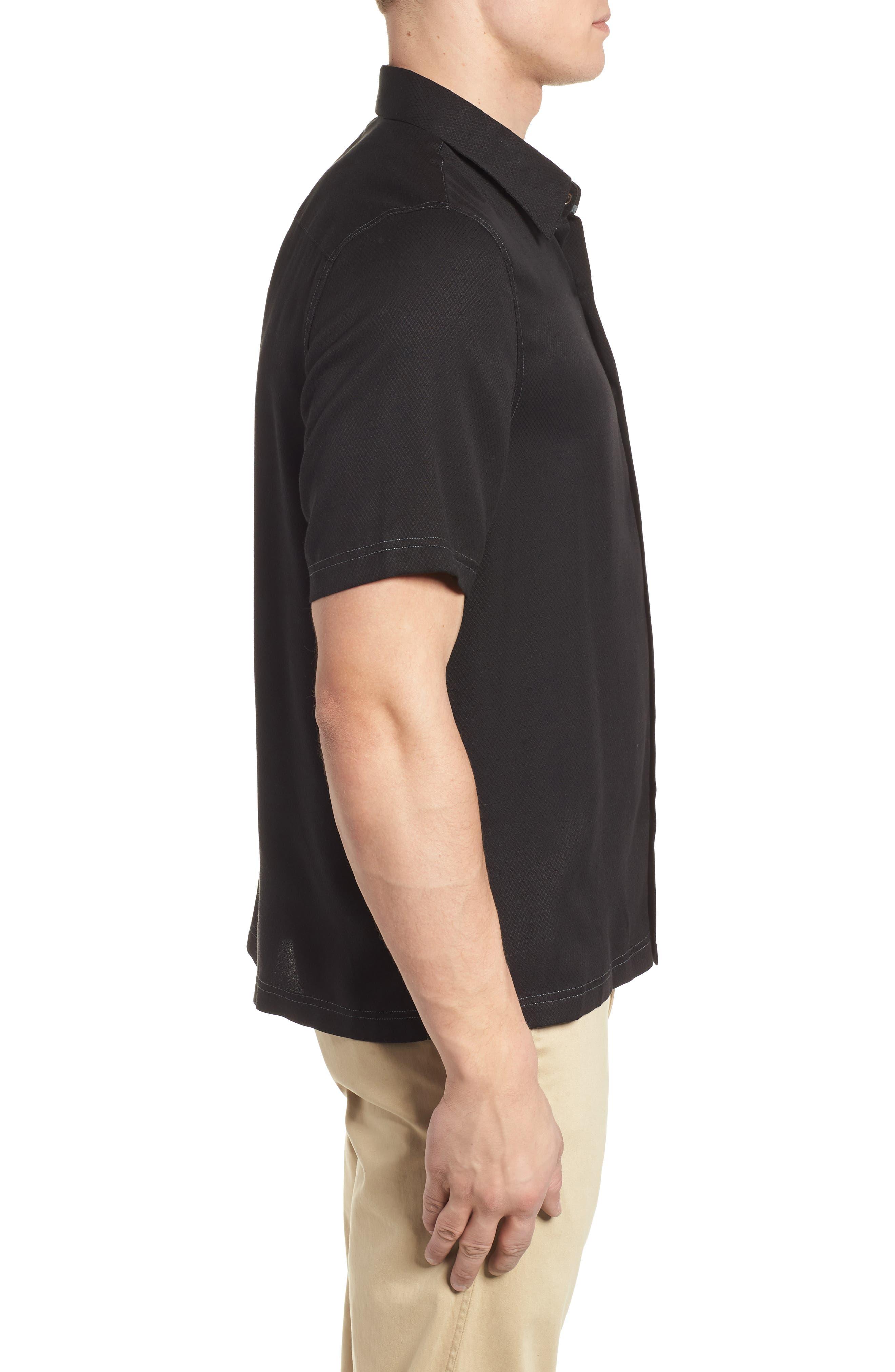 'Honeycomb' Regular Fit Short Sleeve Textured Sport Shirt,                             Alternate thumbnail 8, color,