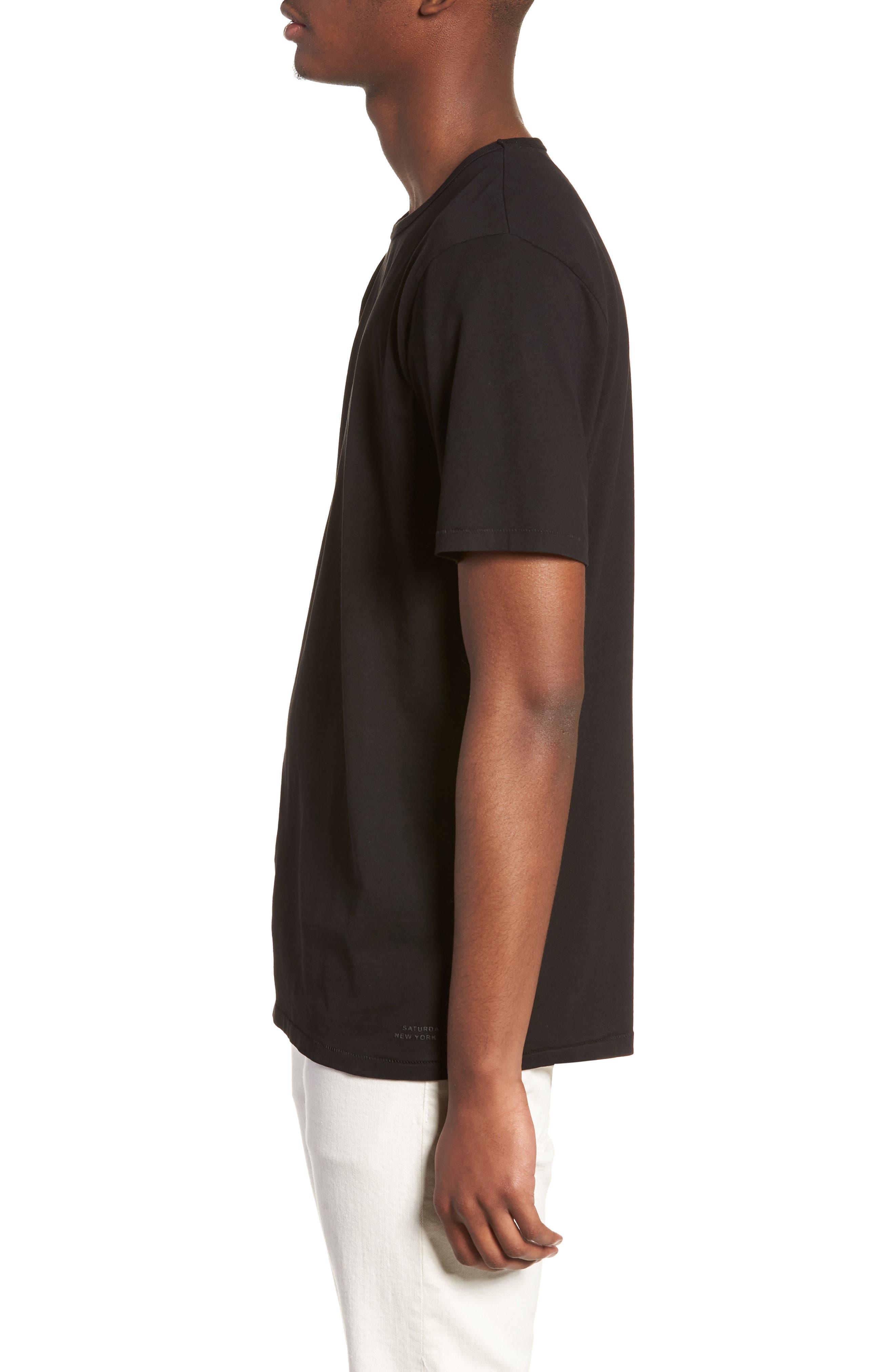 Brandon Pima T-Shirt,                             Alternate thumbnail 3, color,                             BLACK