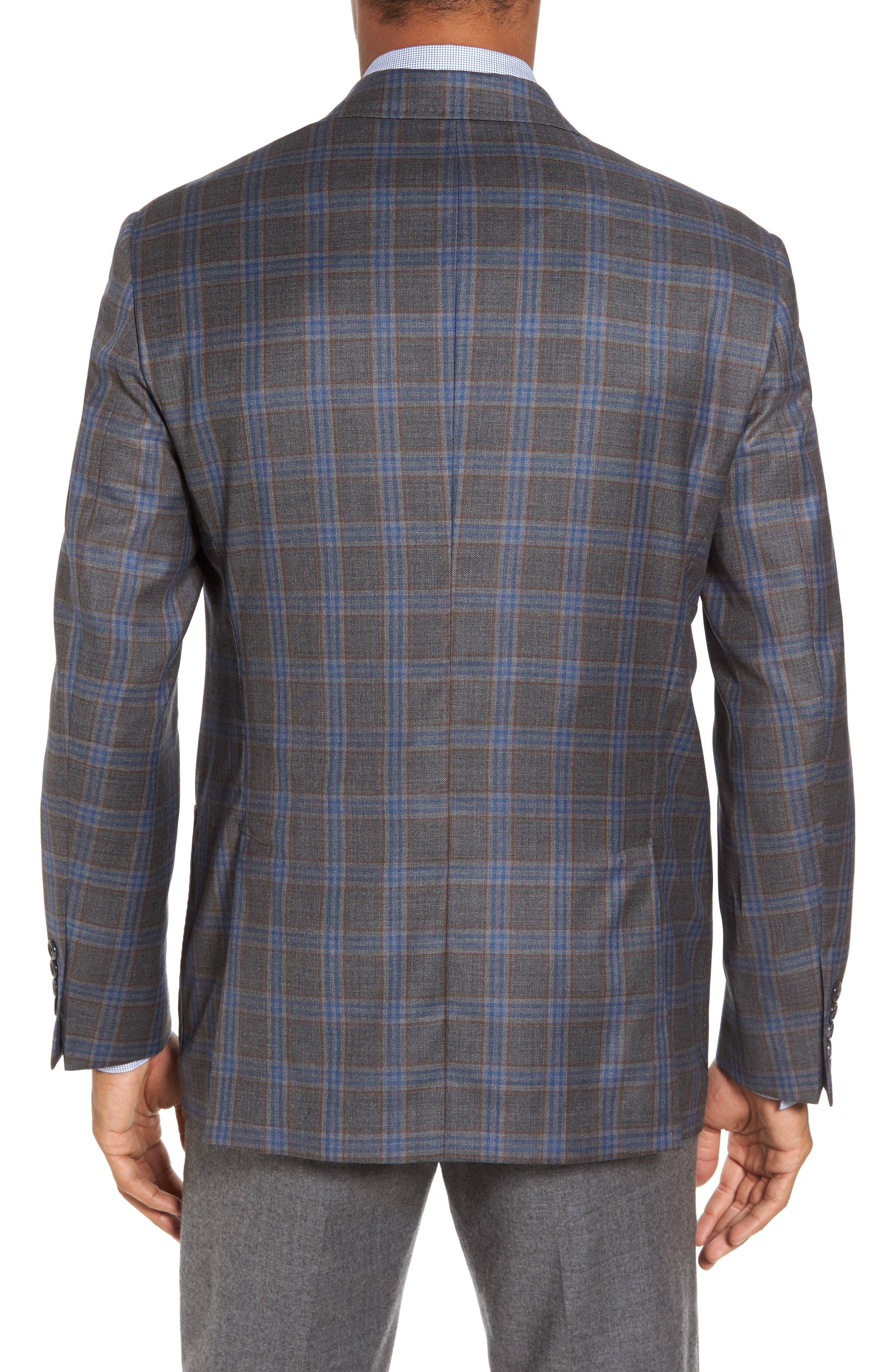 Plaid Wool Sport Coat,                             Alternate thumbnail 2, color,                             050