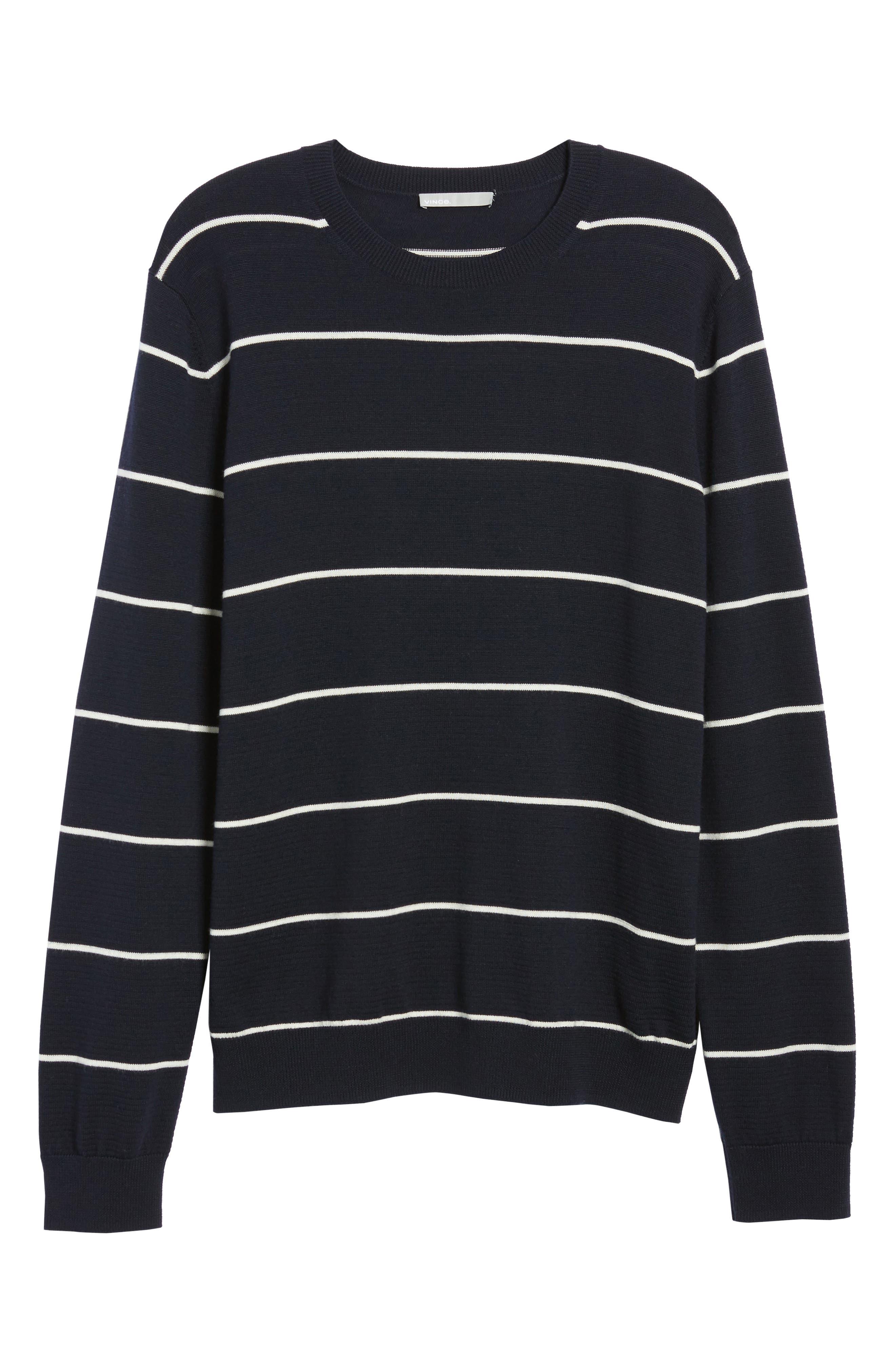 Slim Fit Stripe Crewneck Sweater,                             Alternate thumbnail 6, color,                             477