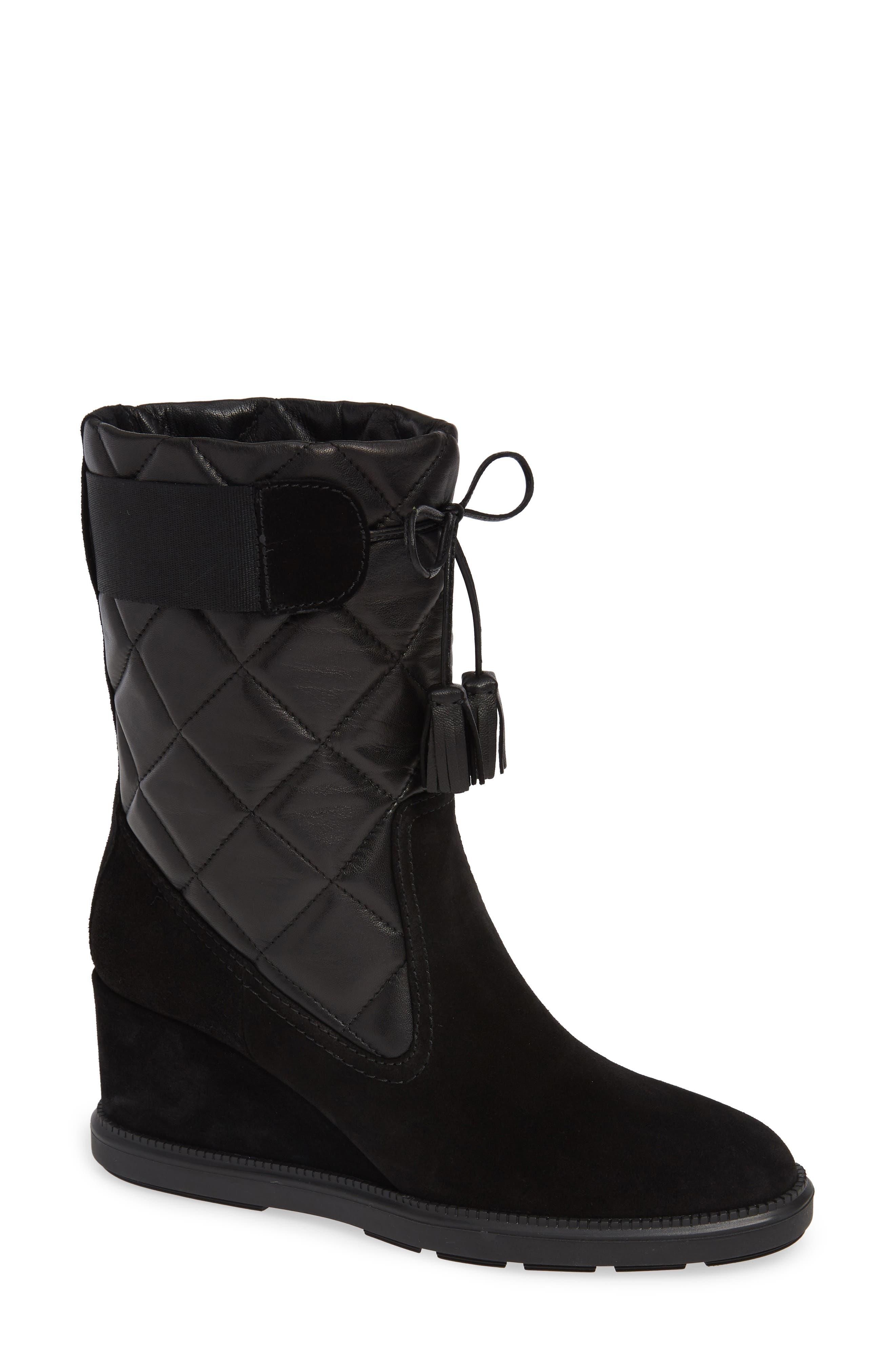 Aquatalia Caliana Water Resistant Boot- Black