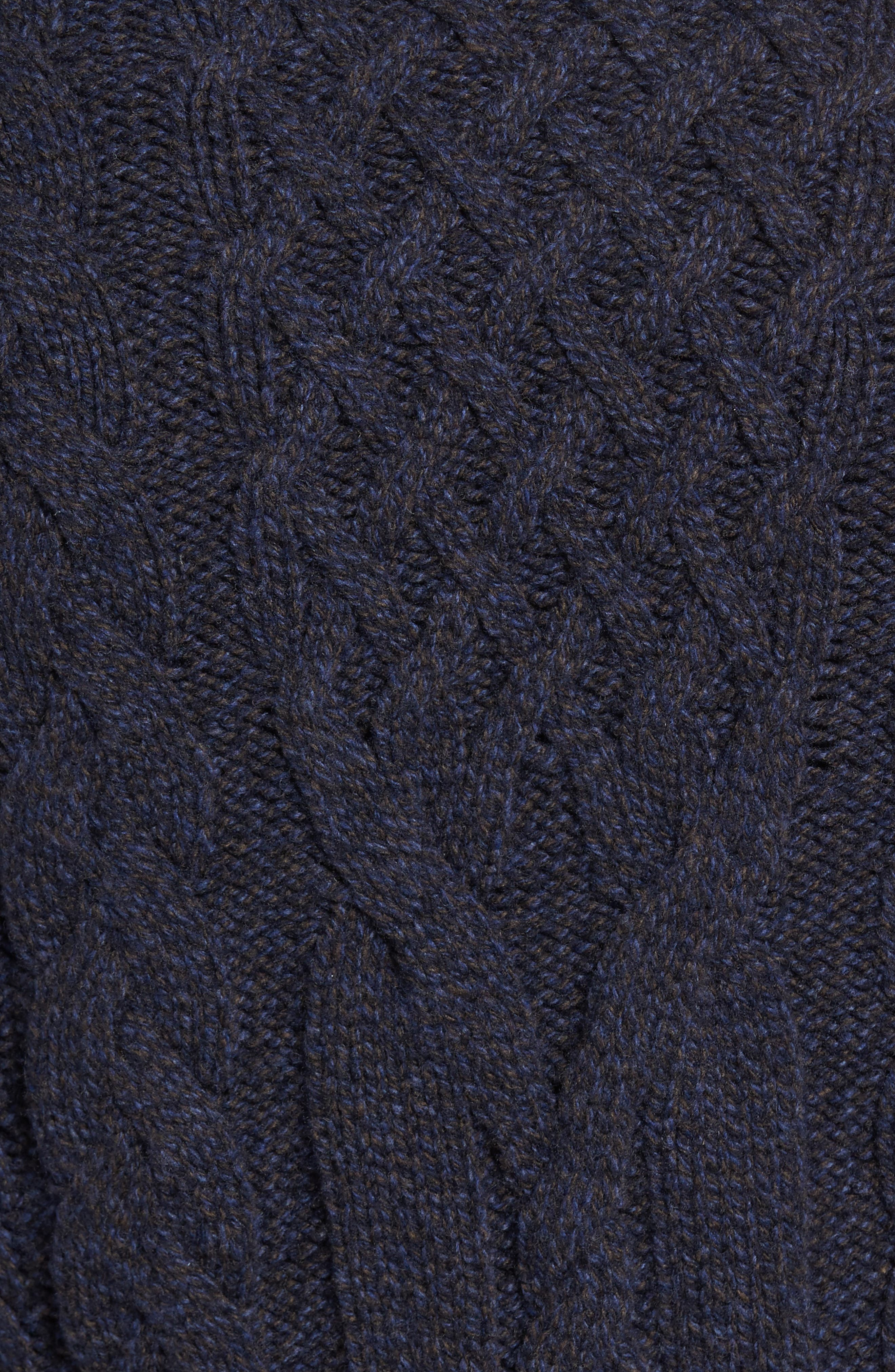 EIDOS,                             Napoli Cable Knit Wool Cardigan,                             Alternate thumbnail 5, color,                             405
