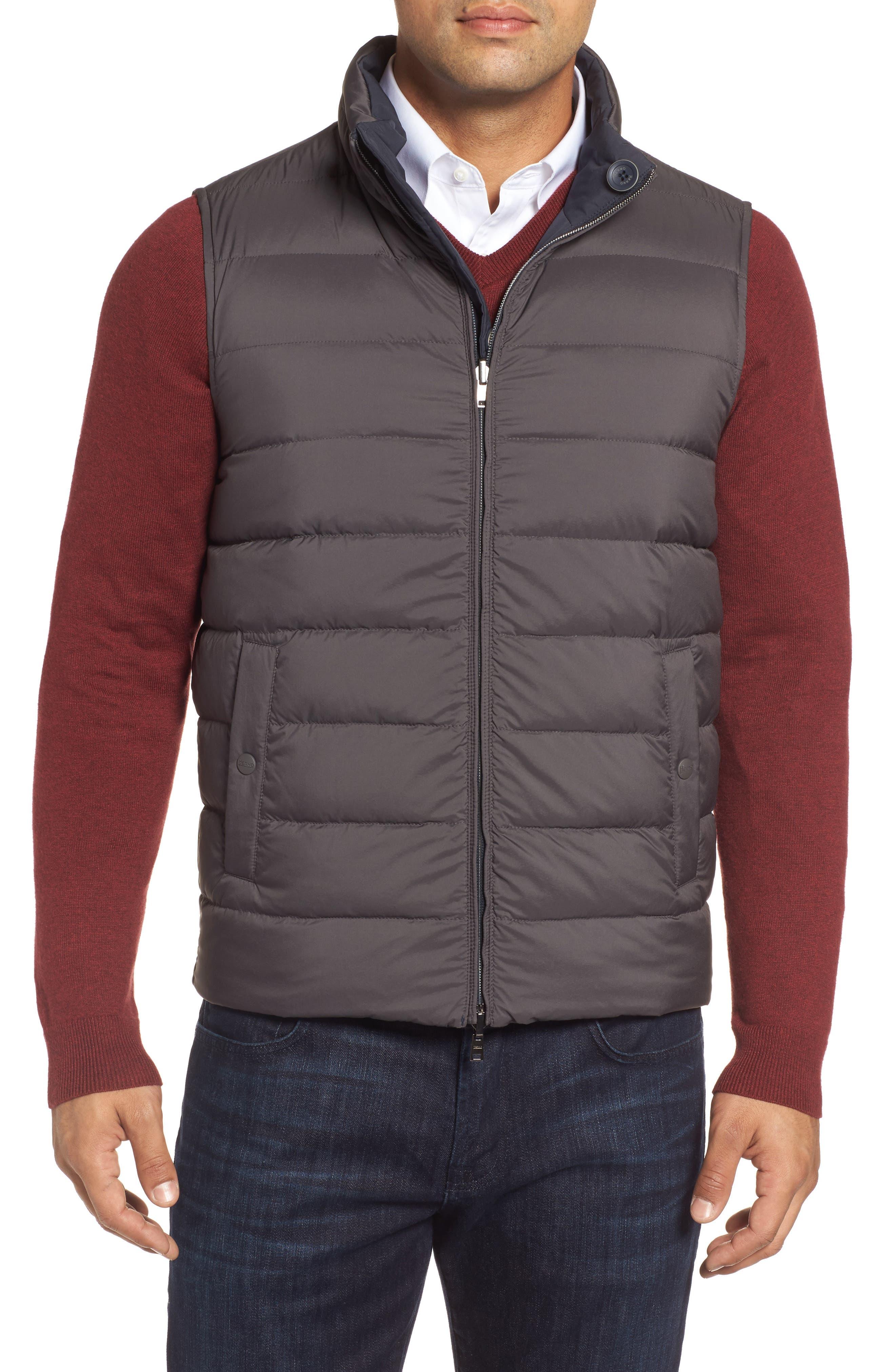 Reversible Down Vest,                             Alternate thumbnail 4, color,                             400