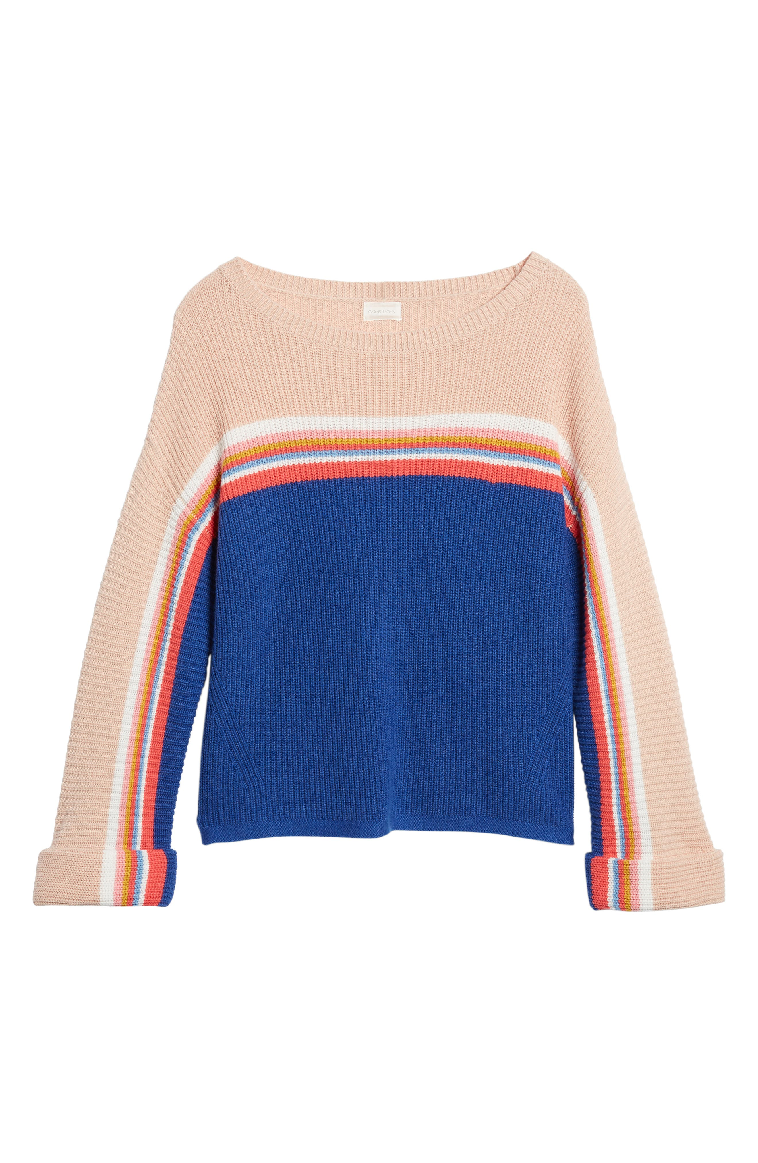 CASLON<SUP>®</SUP>,                             Shaker Stitch Sweater,                             Alternate thumbnail 6, color,                             401