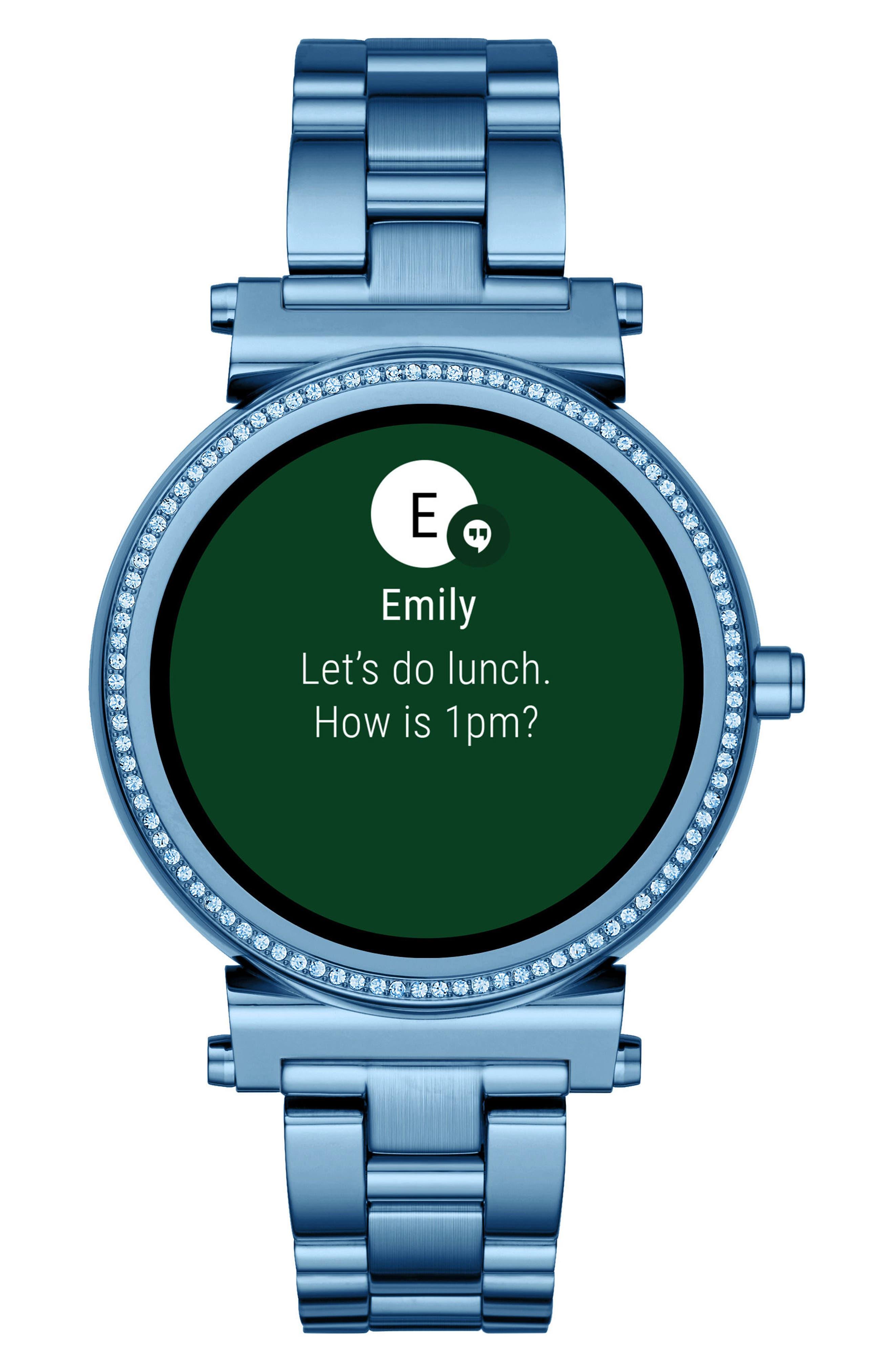 Sofie Touchscreen Bracelet Smart Watch, 42mm,                             Alternate thumbnail 4, color,                             400