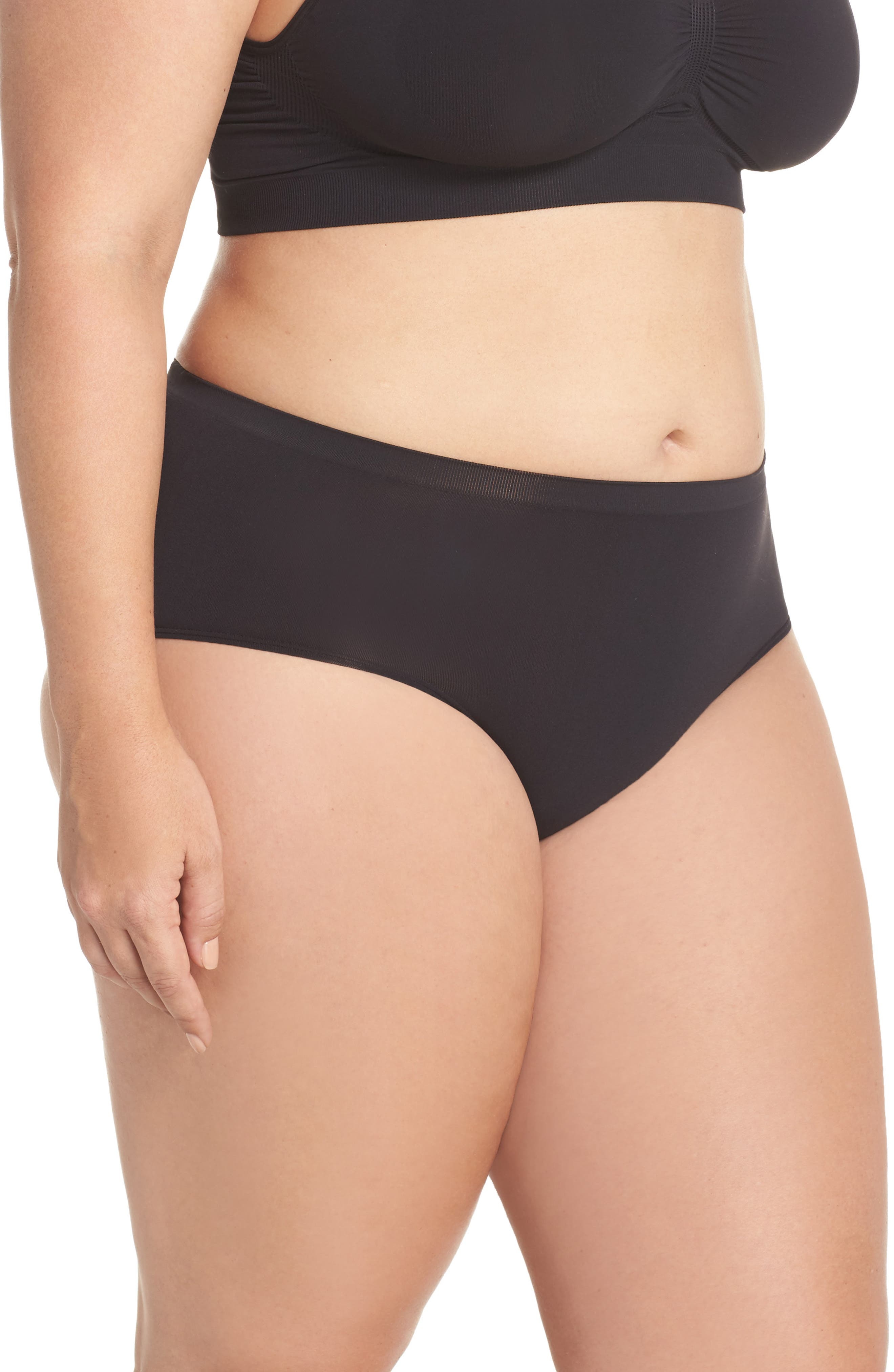 Seamless Hipster Briefs,                             Alternate thumbnail 3, color,                             001