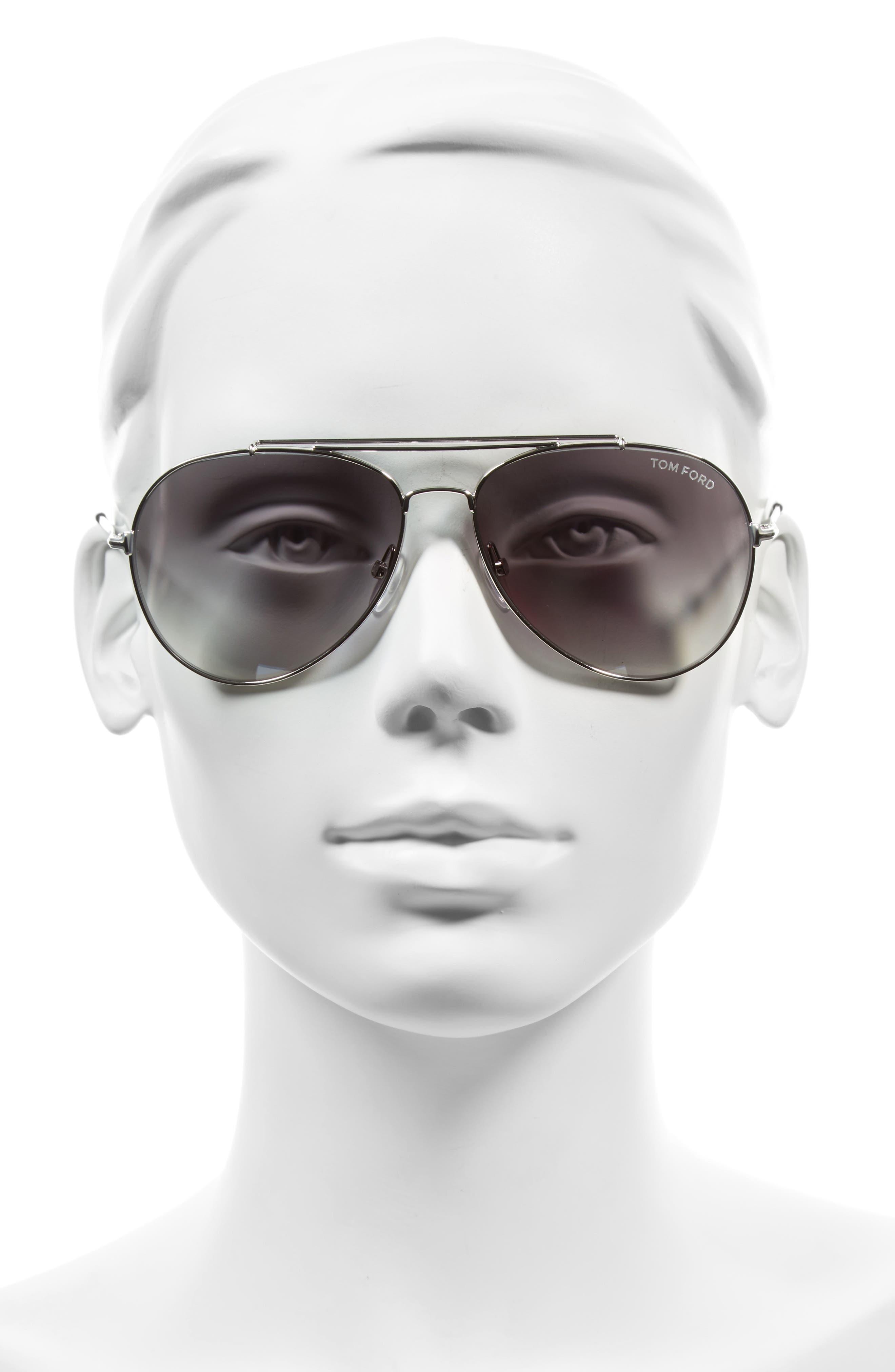 Indiana 60mm Aviator Sunglasses,                             Alternate thumbnail 2, color,                             041