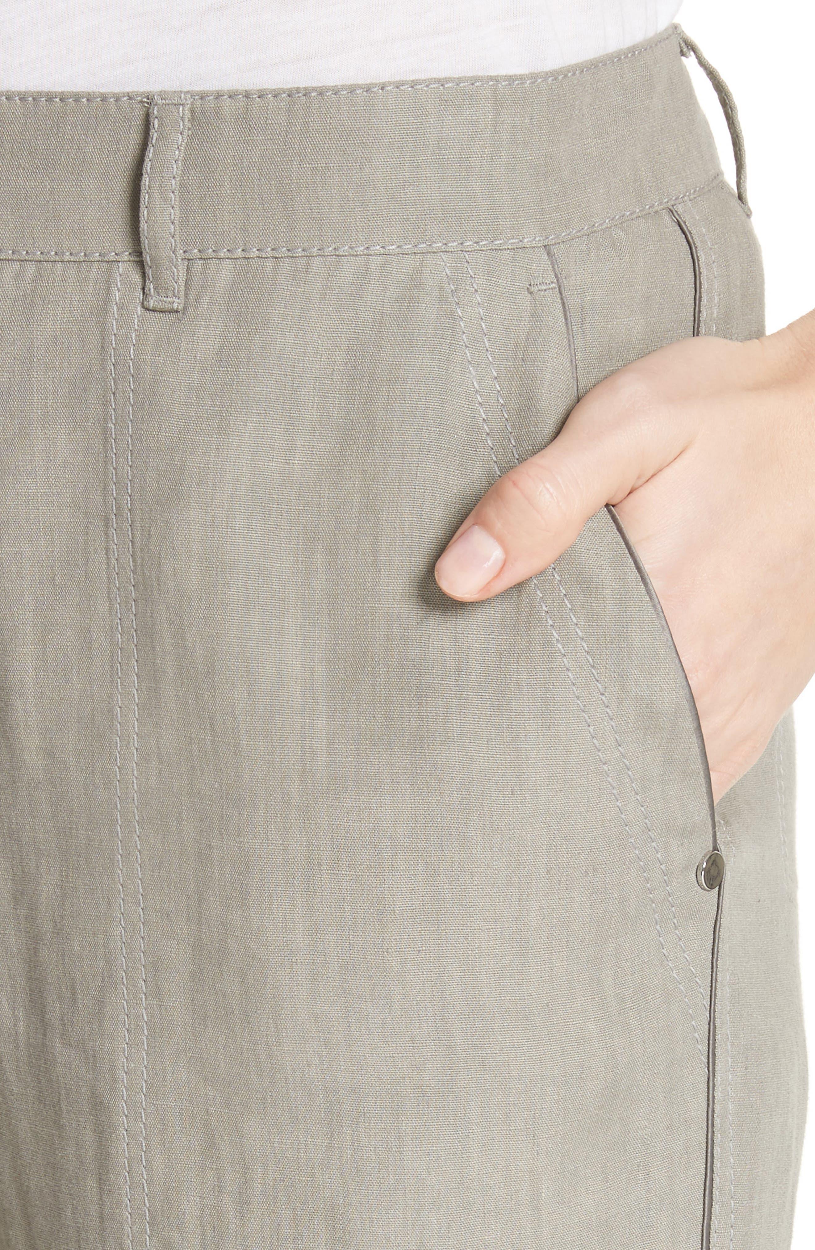 Fulton Linen Crop Pants,                             Alternate thumbnail 4, color,