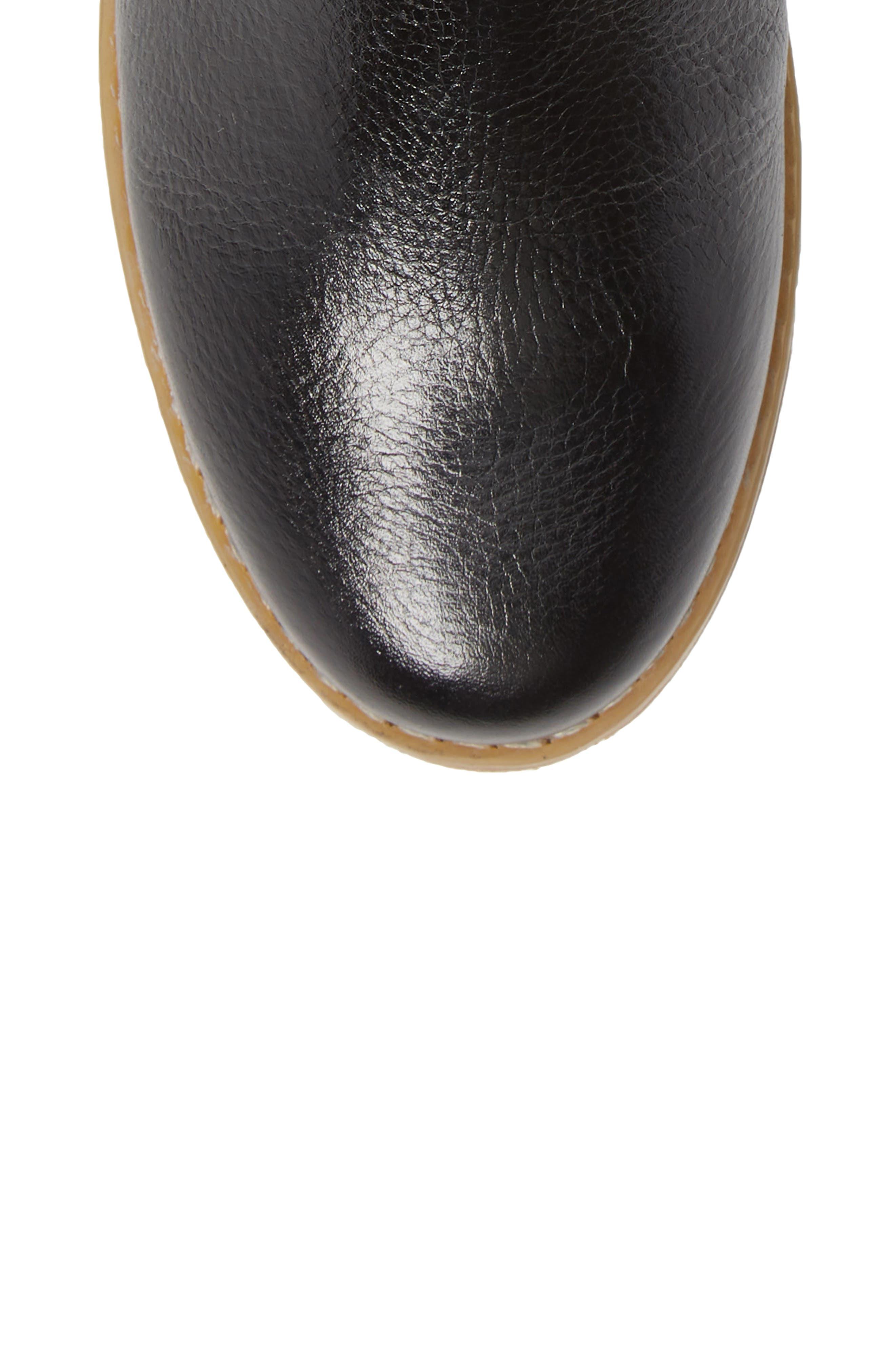 HUSH PUPPIES<SUP>®</SUP>,                             Chardon Belt Water Resistant Bootie,                             Alternate thumbnail 5, color,                             BLACK LEATHER